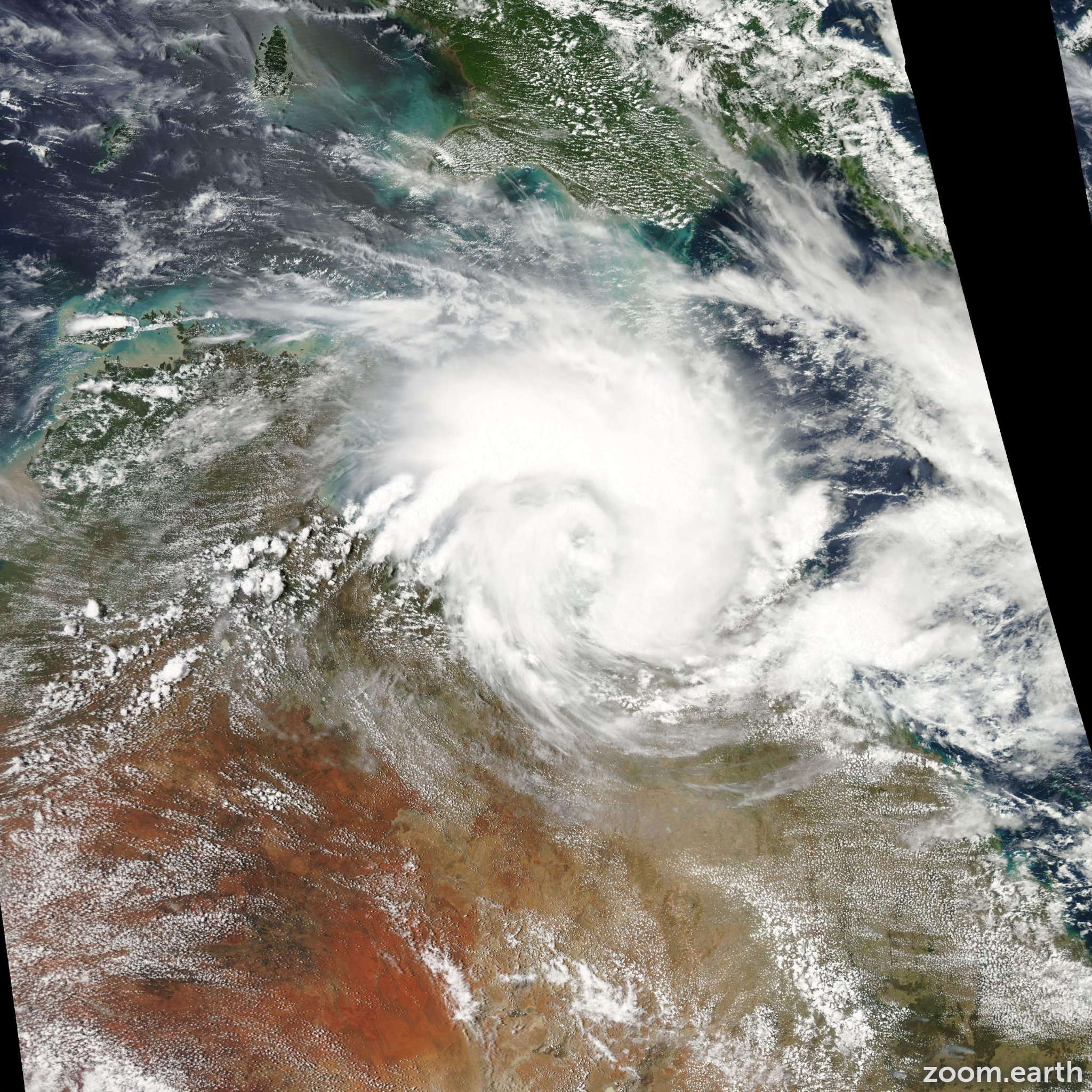 Satellite image of Cyclone Oswald 2013