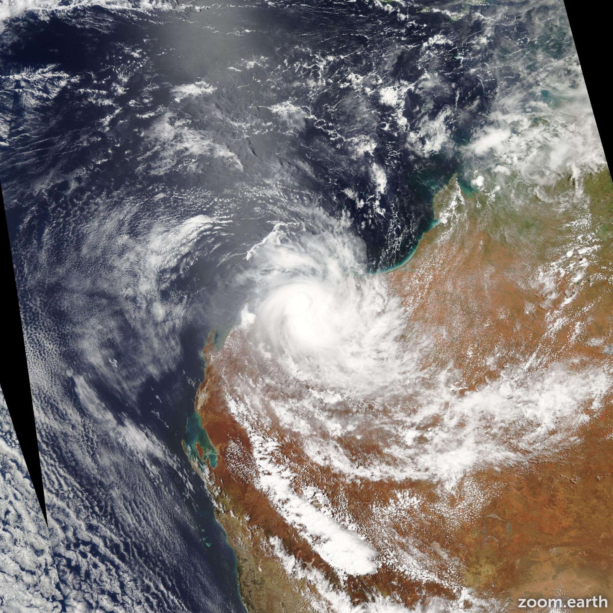 Satellite image of Cyclone Peta 2013