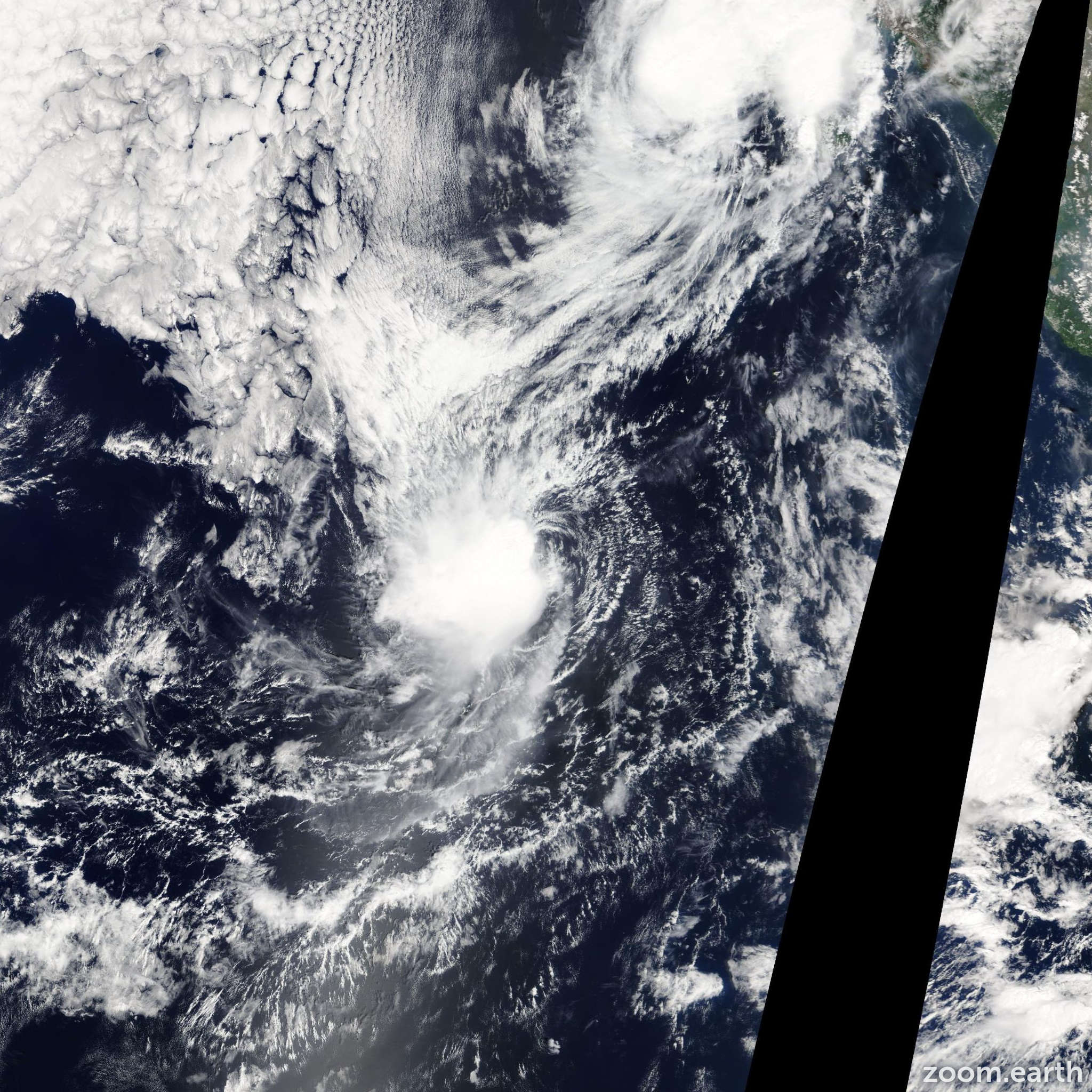Satellite image of Storm Priscilla 2013