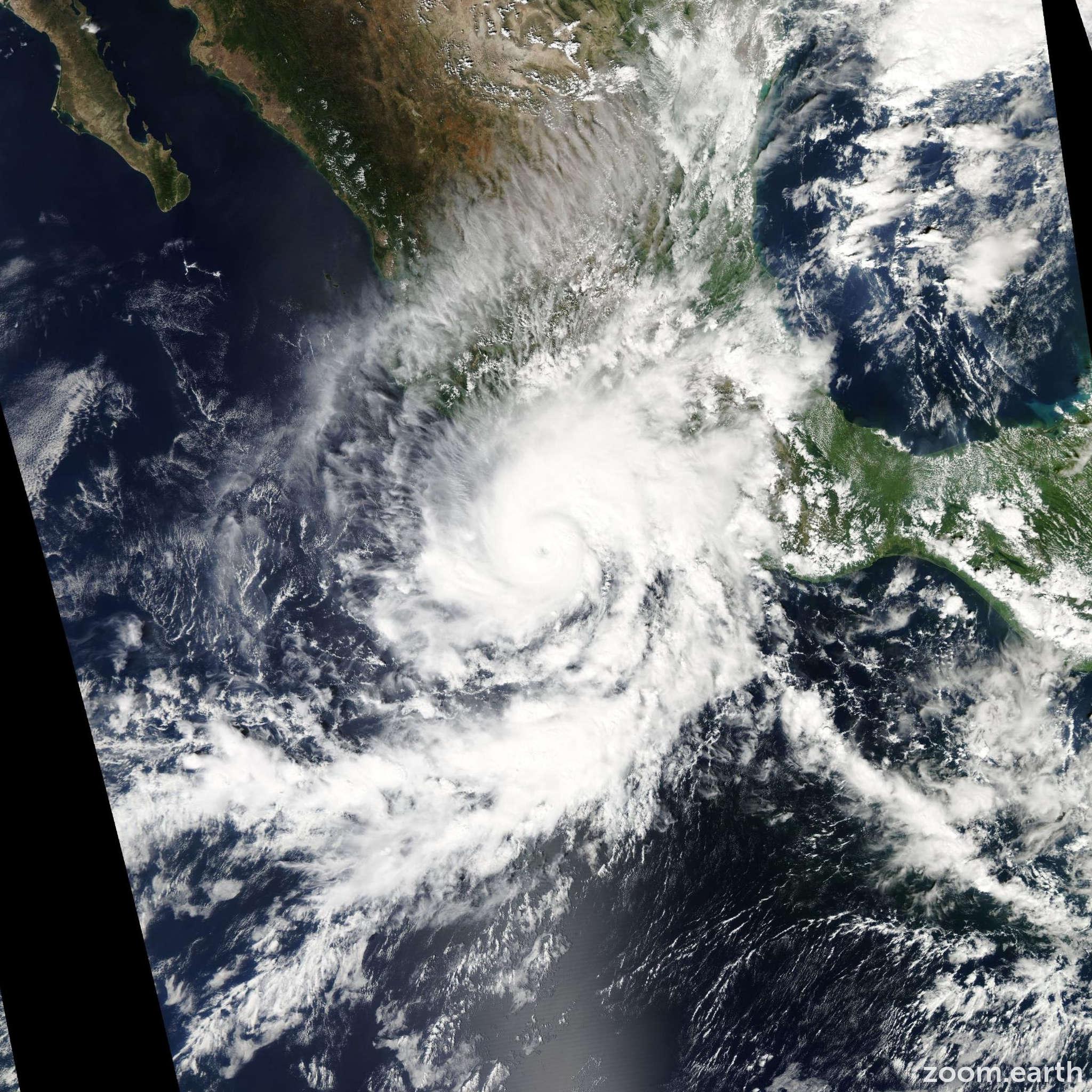 Satellite image of Hurricane Raymond 2013