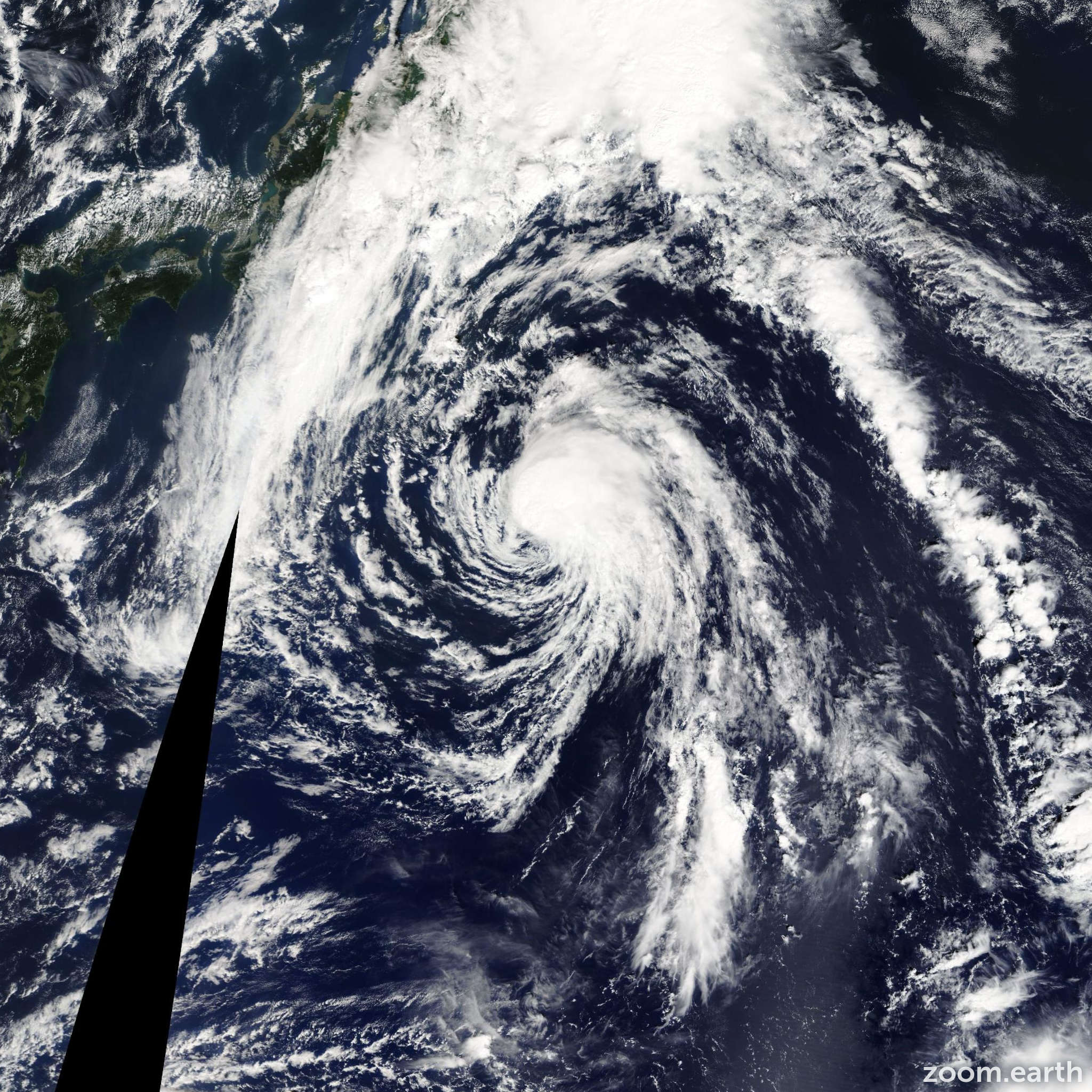 Satellite image of Storm Sepat 2013