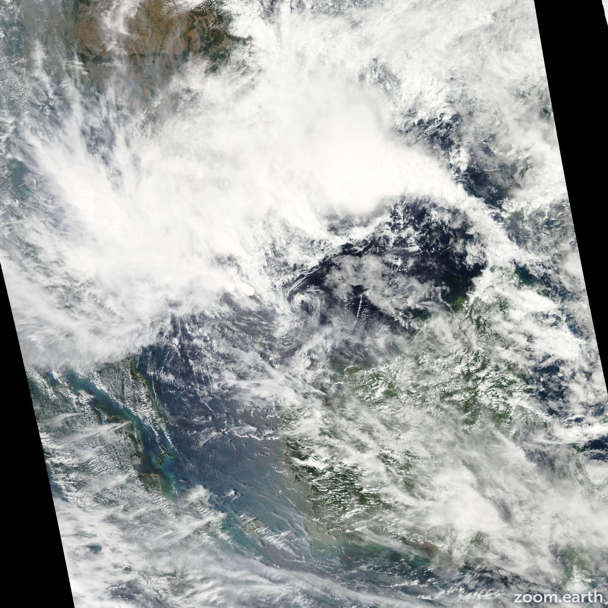 Satellite image of Depression Shanshan 2013