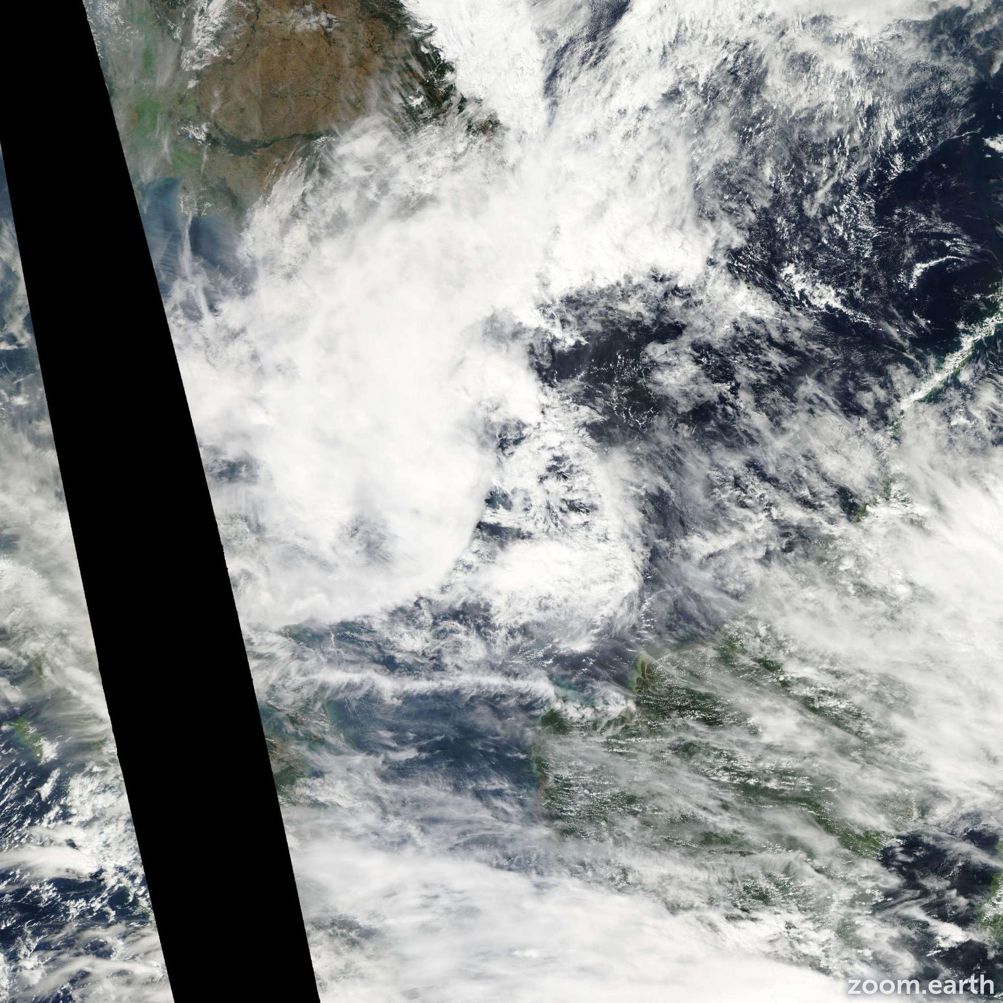 Satellite image of Storm Sonamu 2013