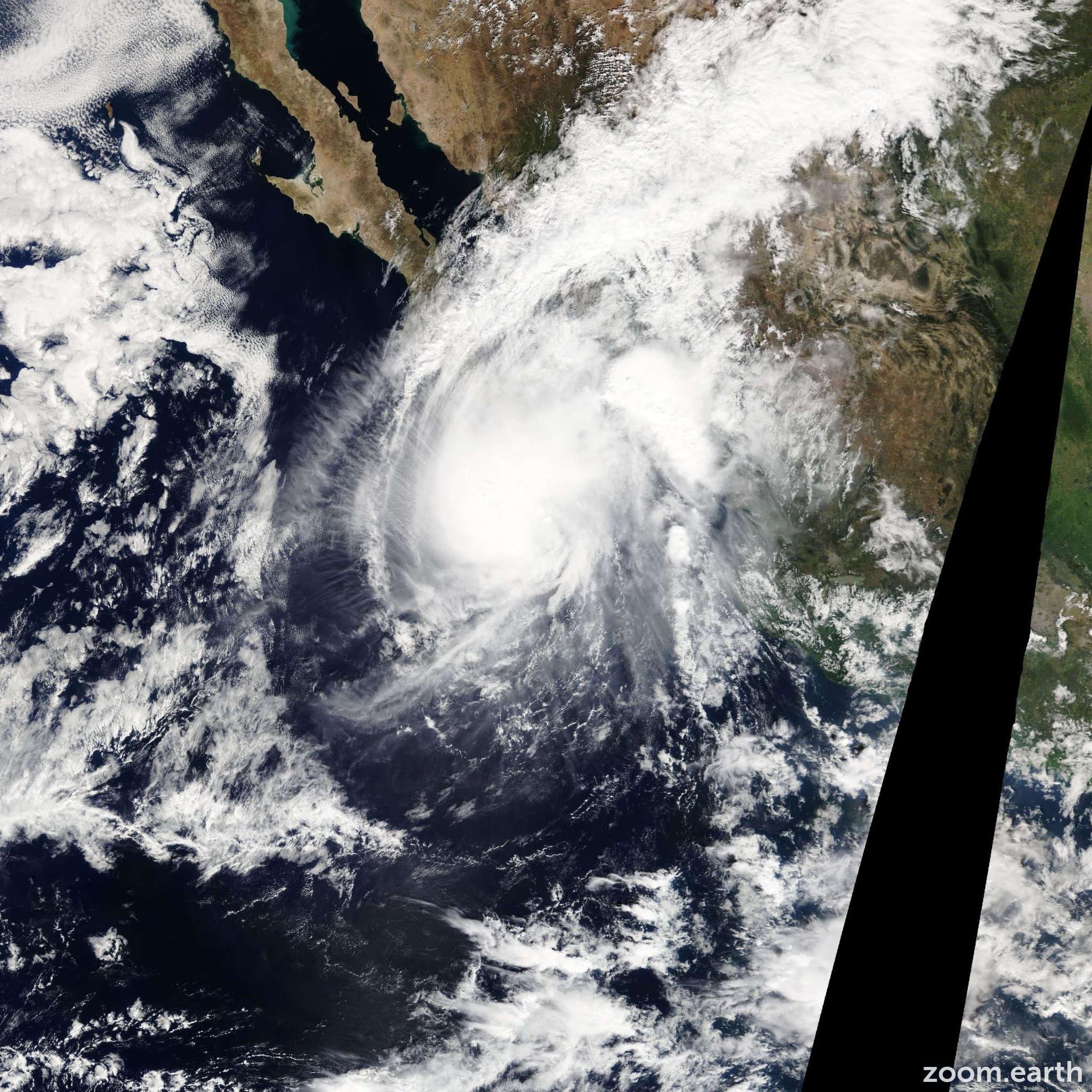 Satellite image of Storm Sonia 2013