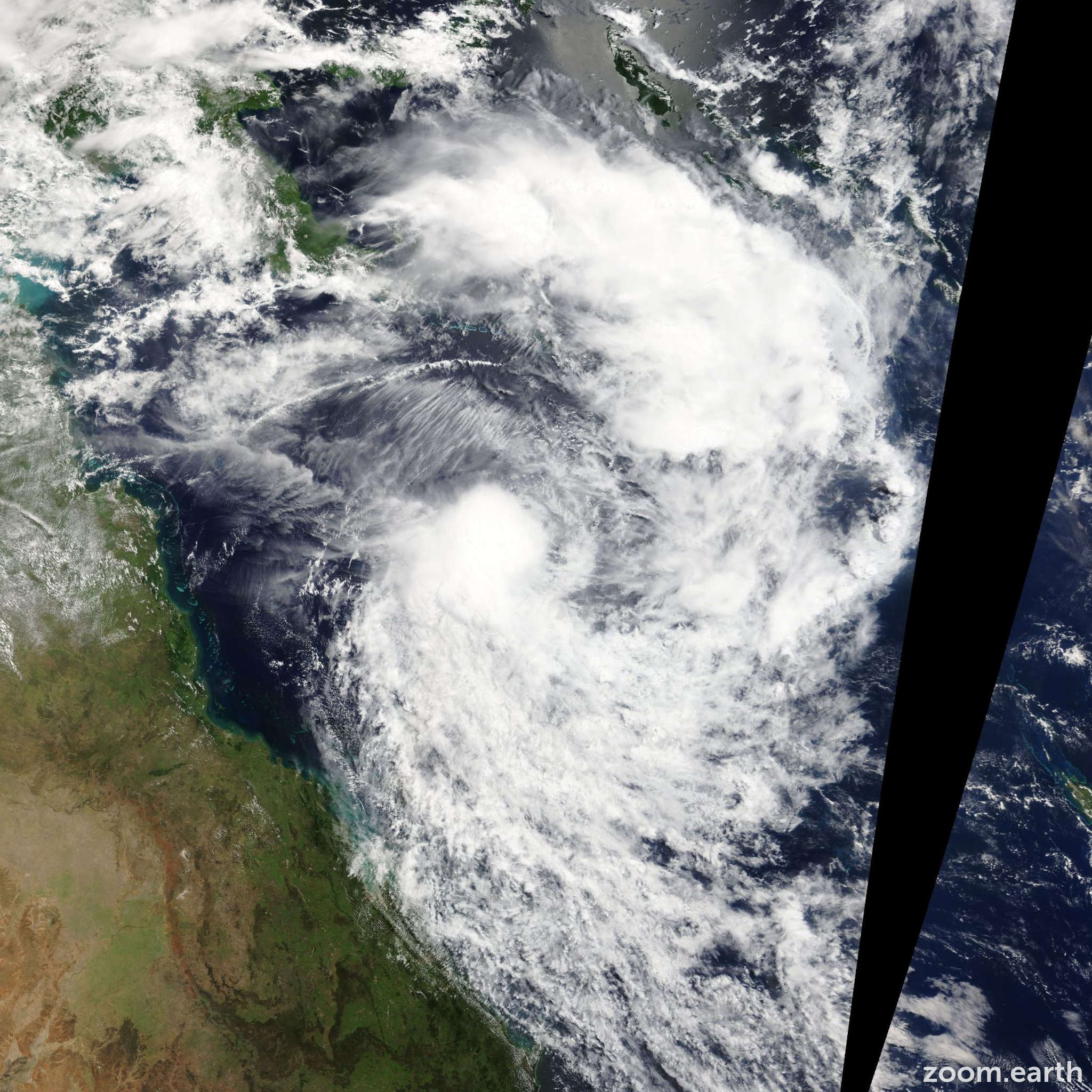 Satellite image of Cyclone Tim 2013
