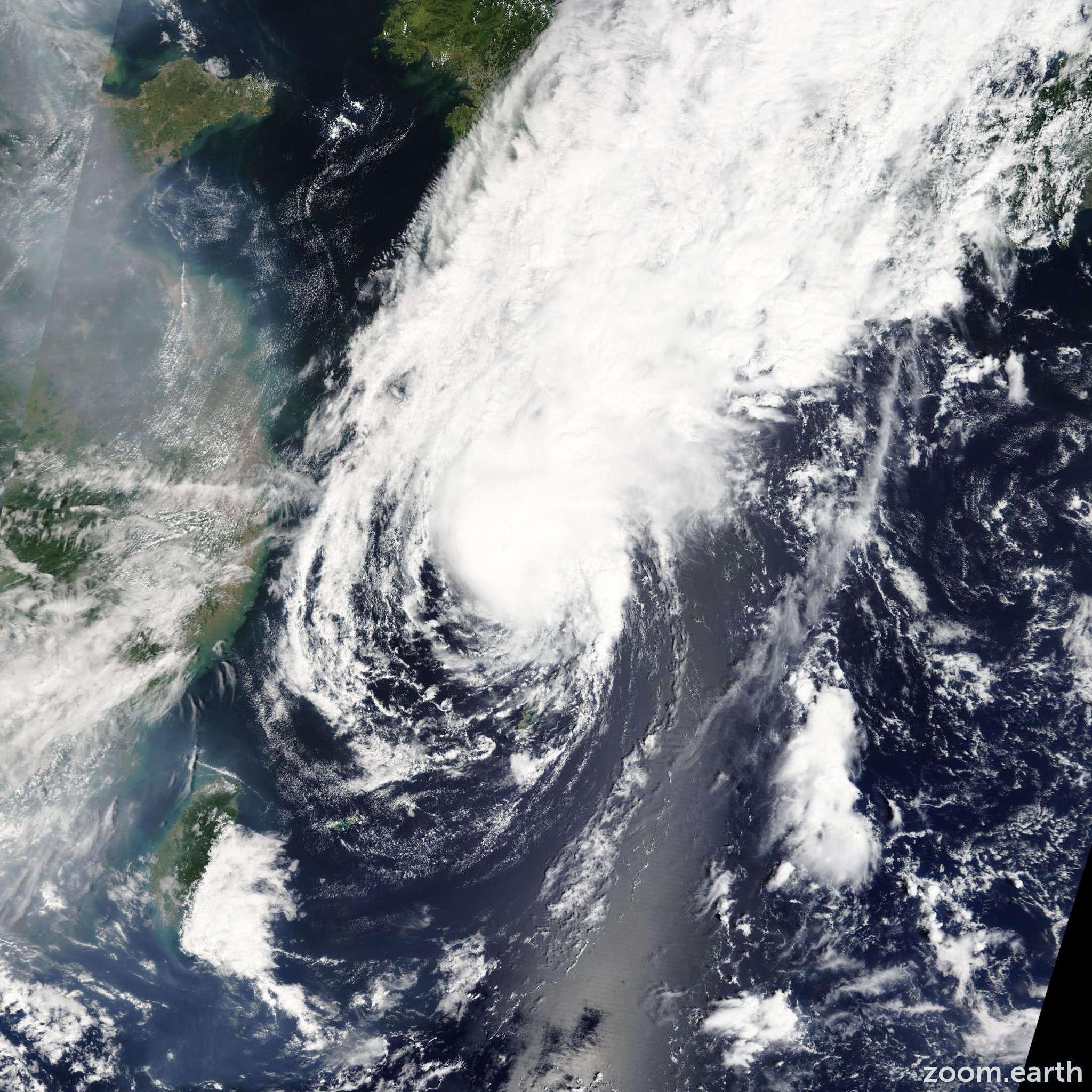 Satellite image of Storm Toraji 2013