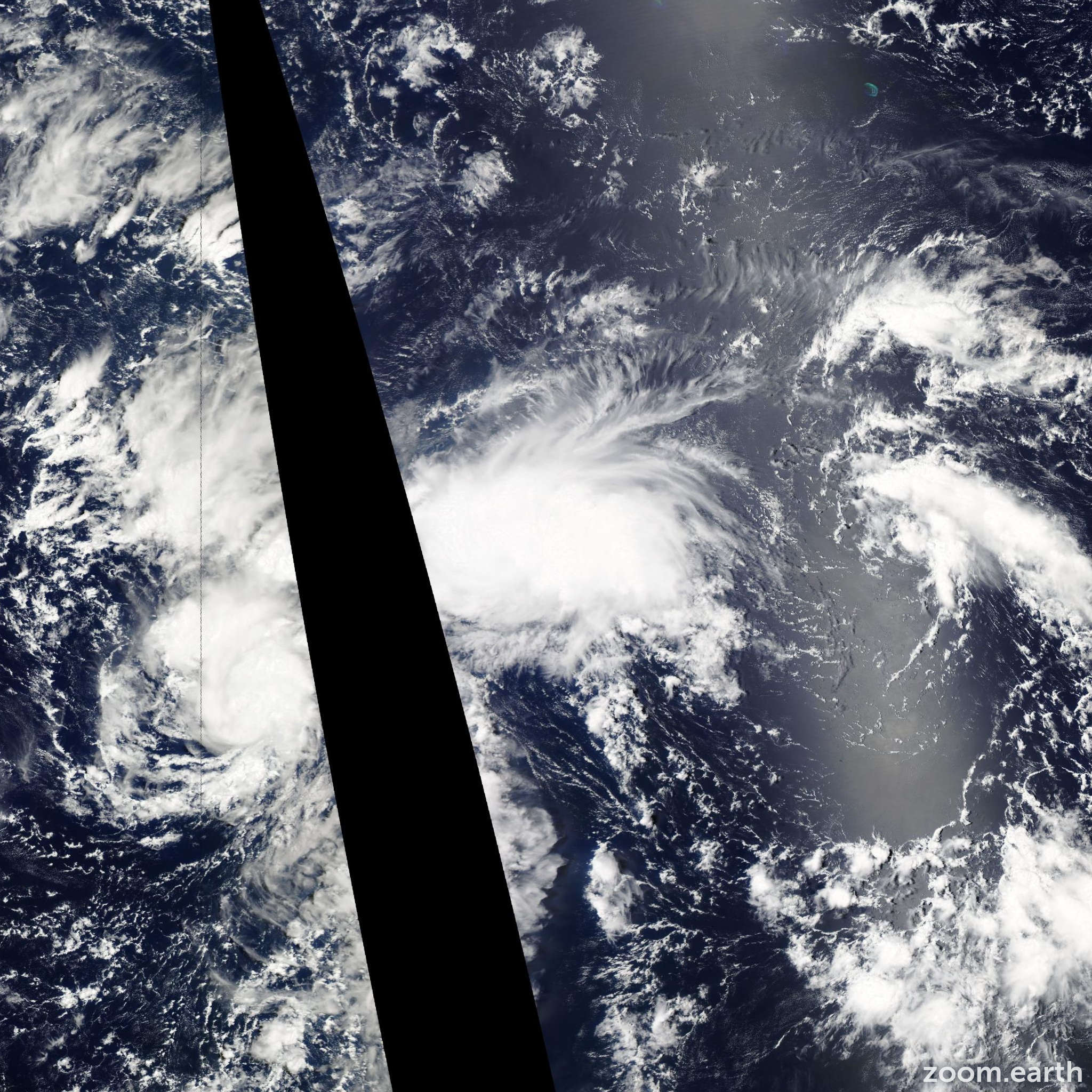 Satellite image of Storm Unala 2013