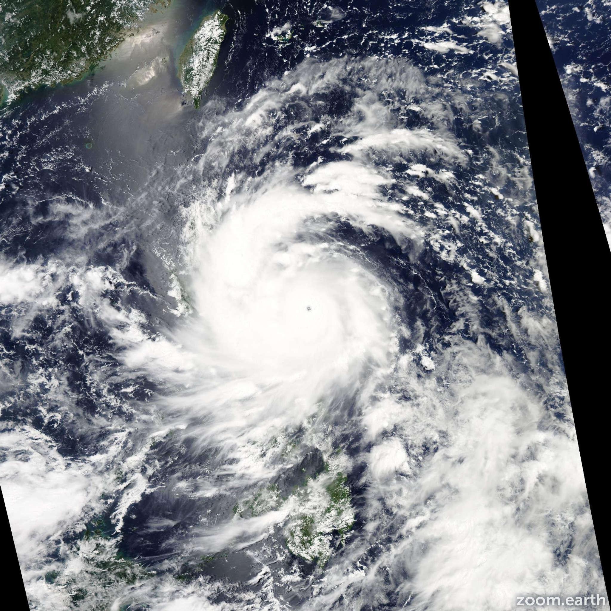 Satellite image of Typhoon Utor 2013