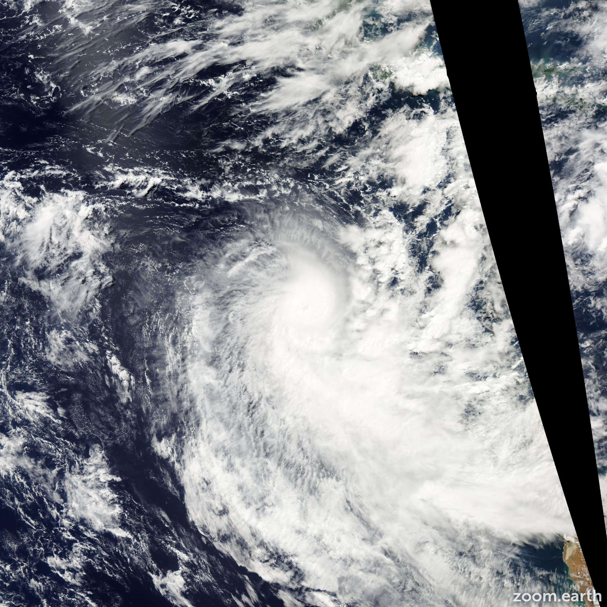 Satellite image of Cyclone Victoria 2013
