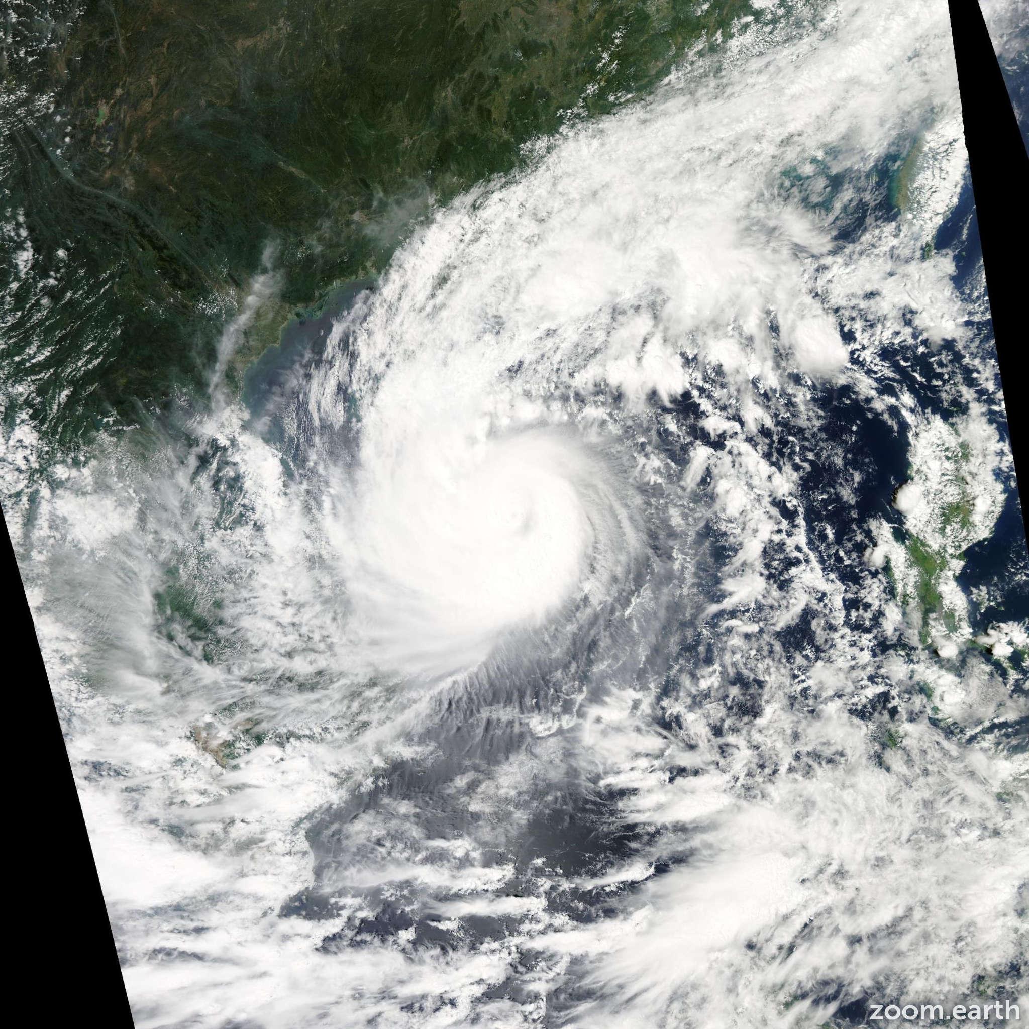 Satellite image of Typhoon Wutip 2013