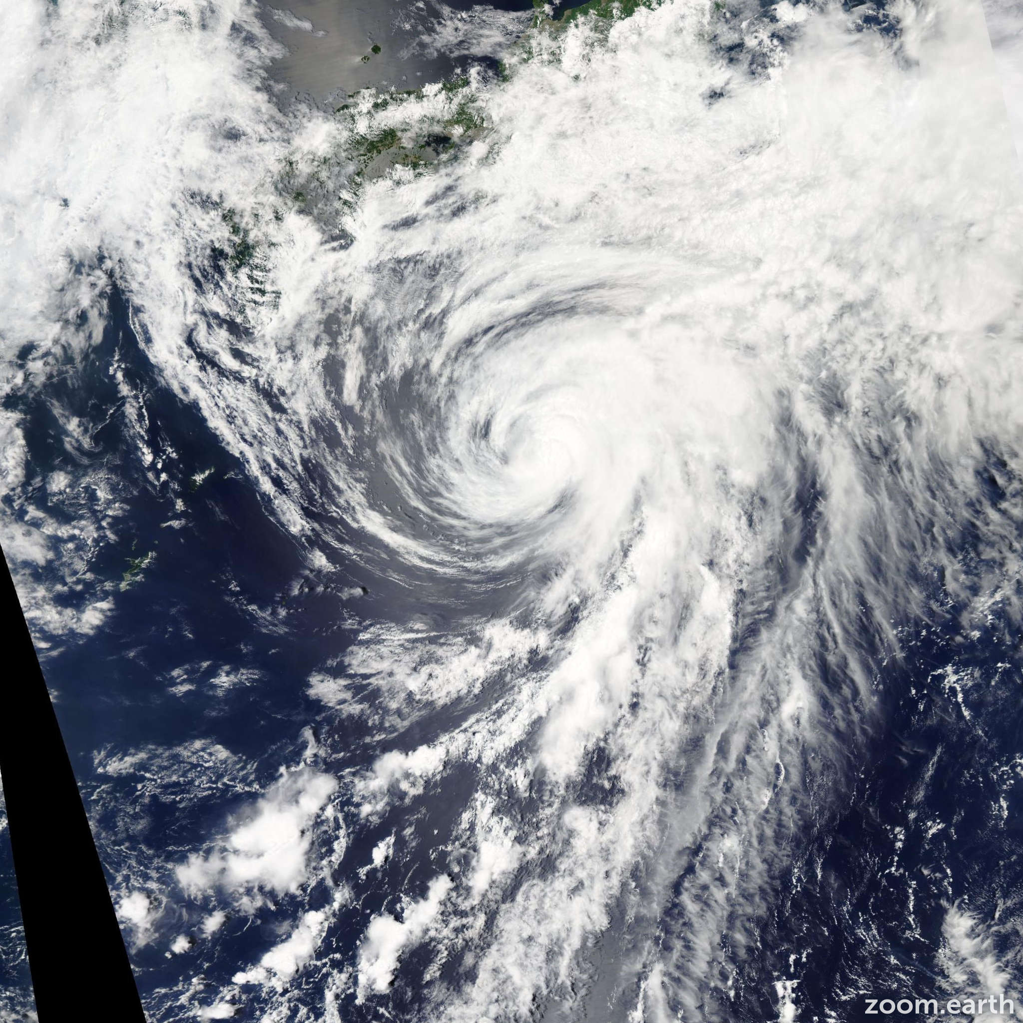 Satellite image of Storm Yagi 2013
