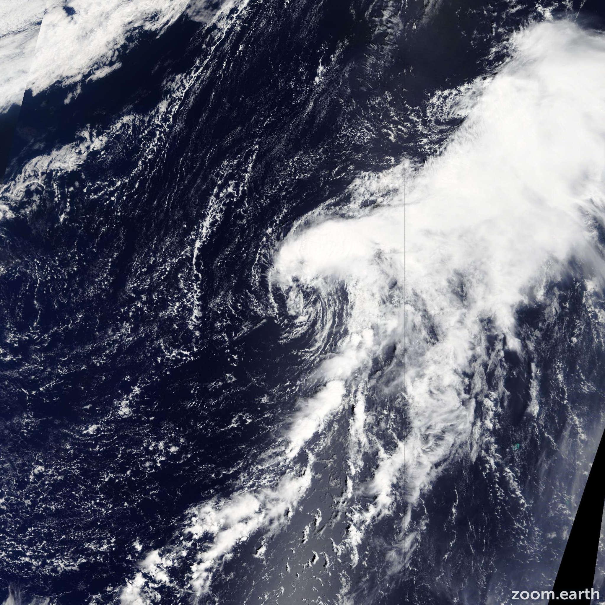 Satellite image of Storm Yutu 2013