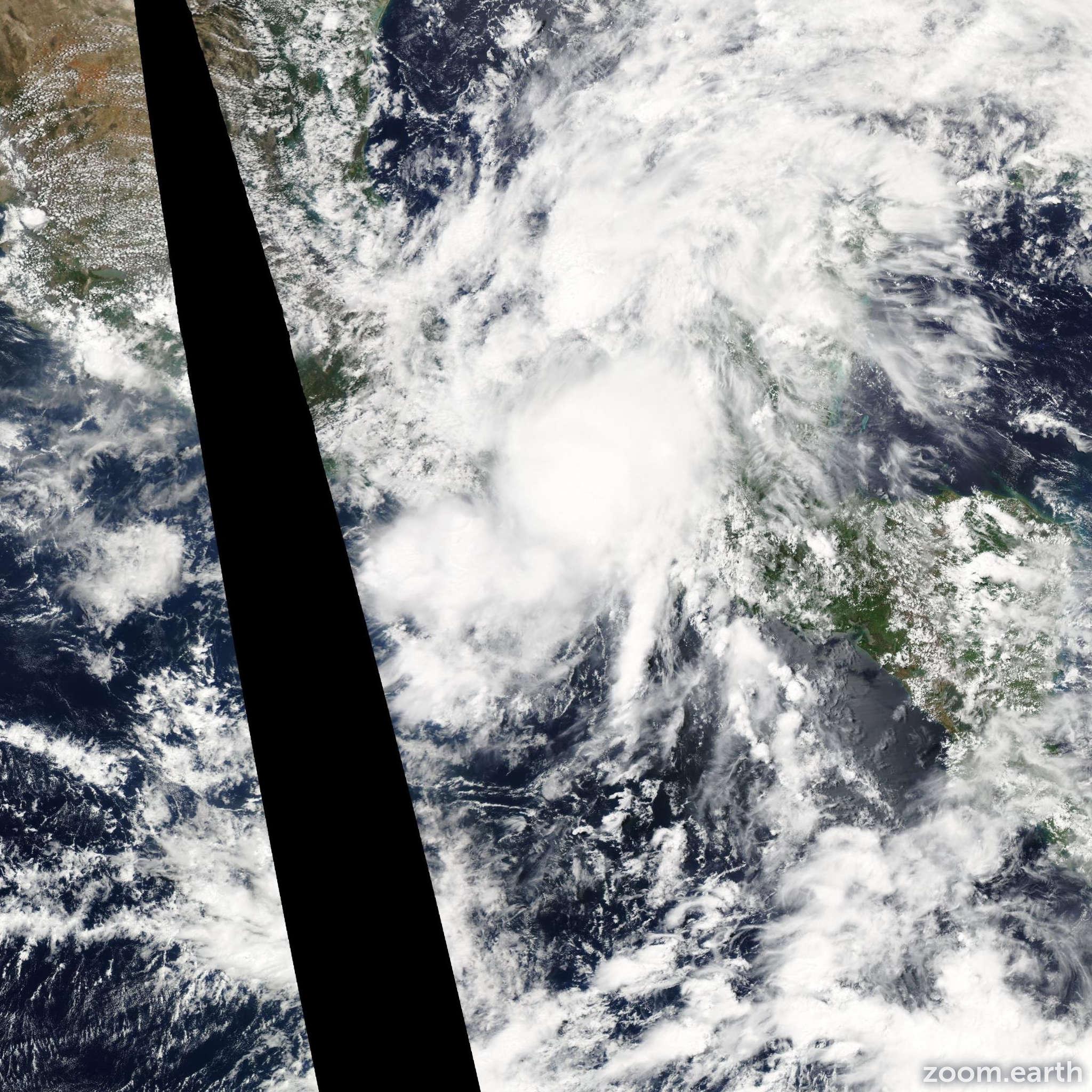 Satellite image of Storm Boris 2014