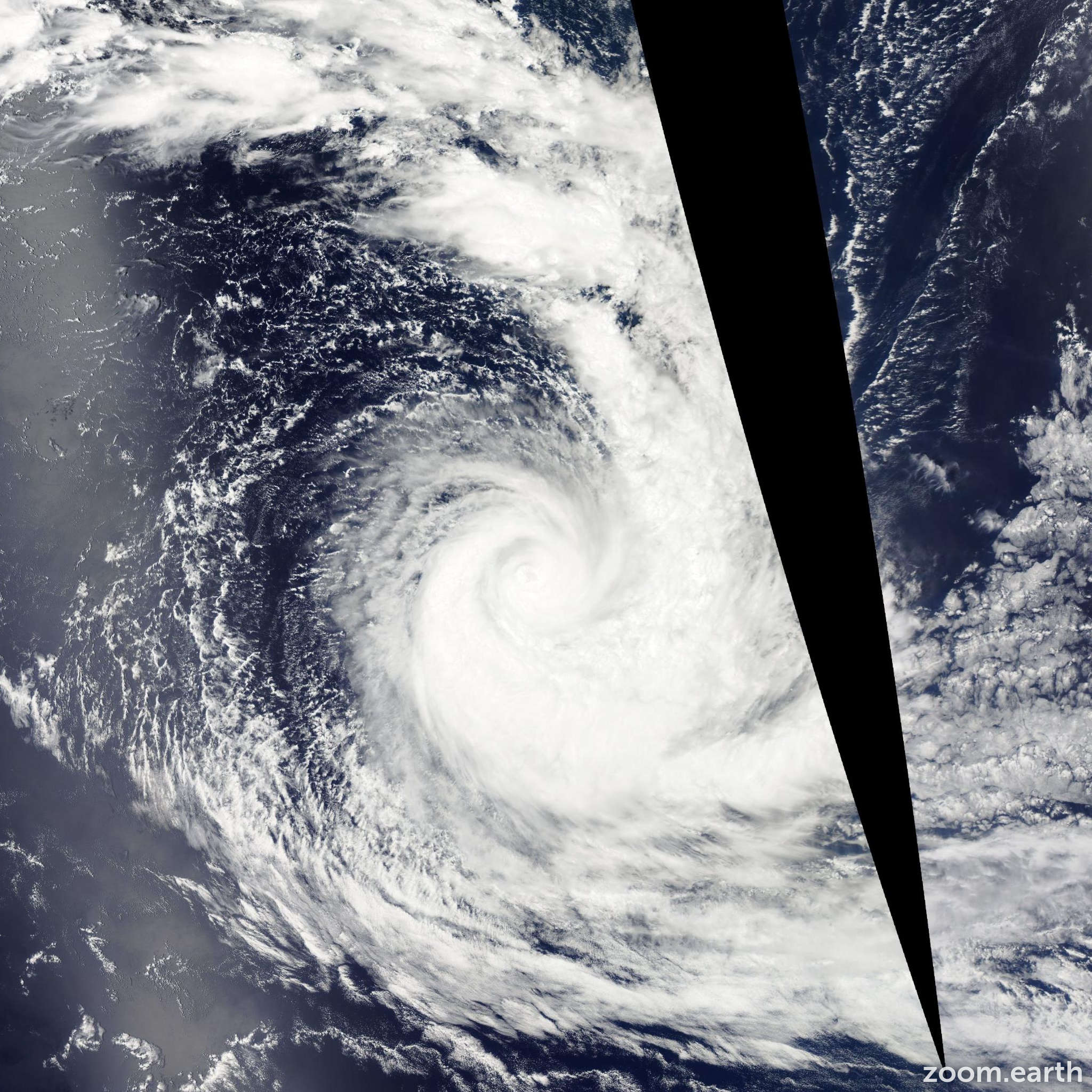 Satellite image of Cyclone Colin 2014