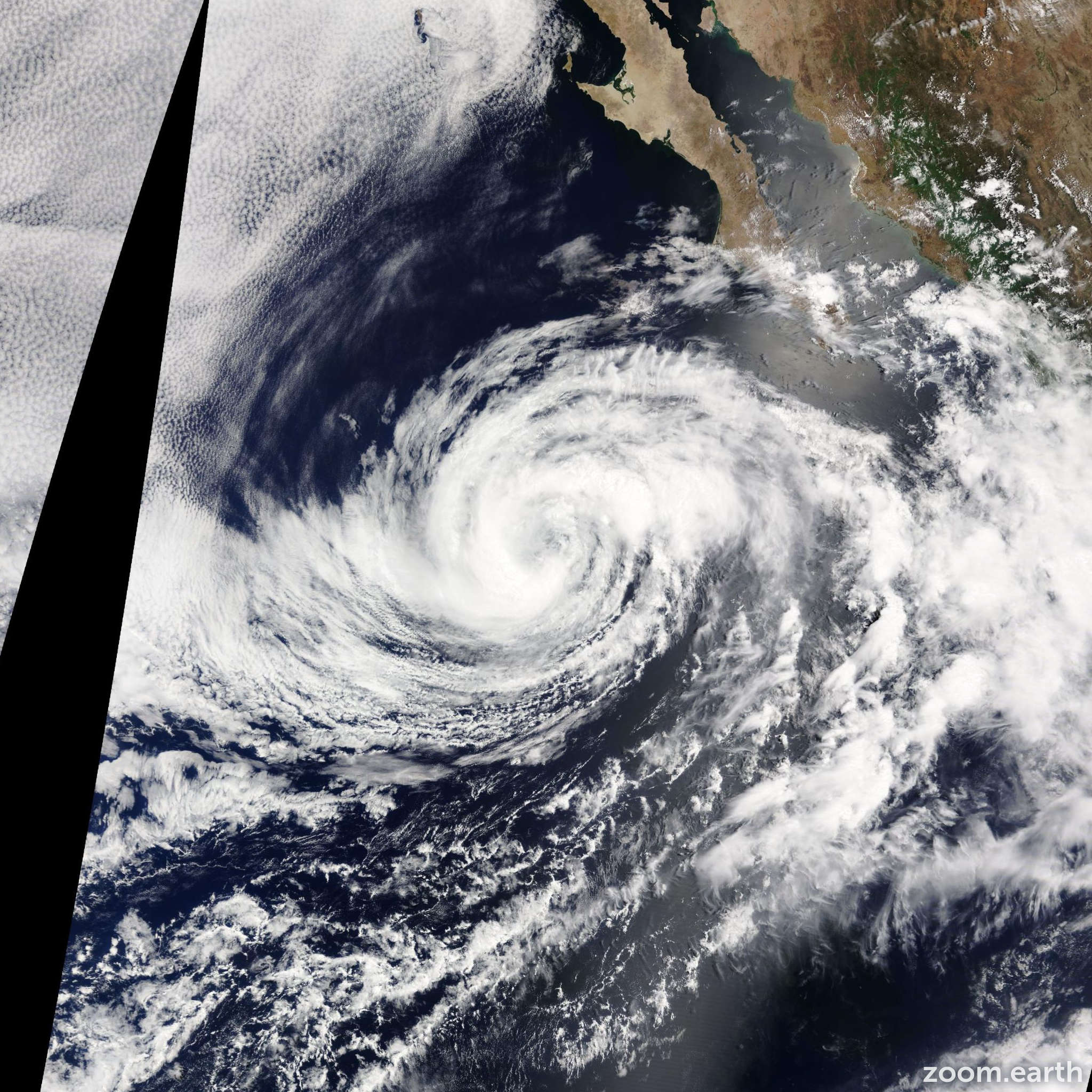 Satellite image of Storm Douglas 2014