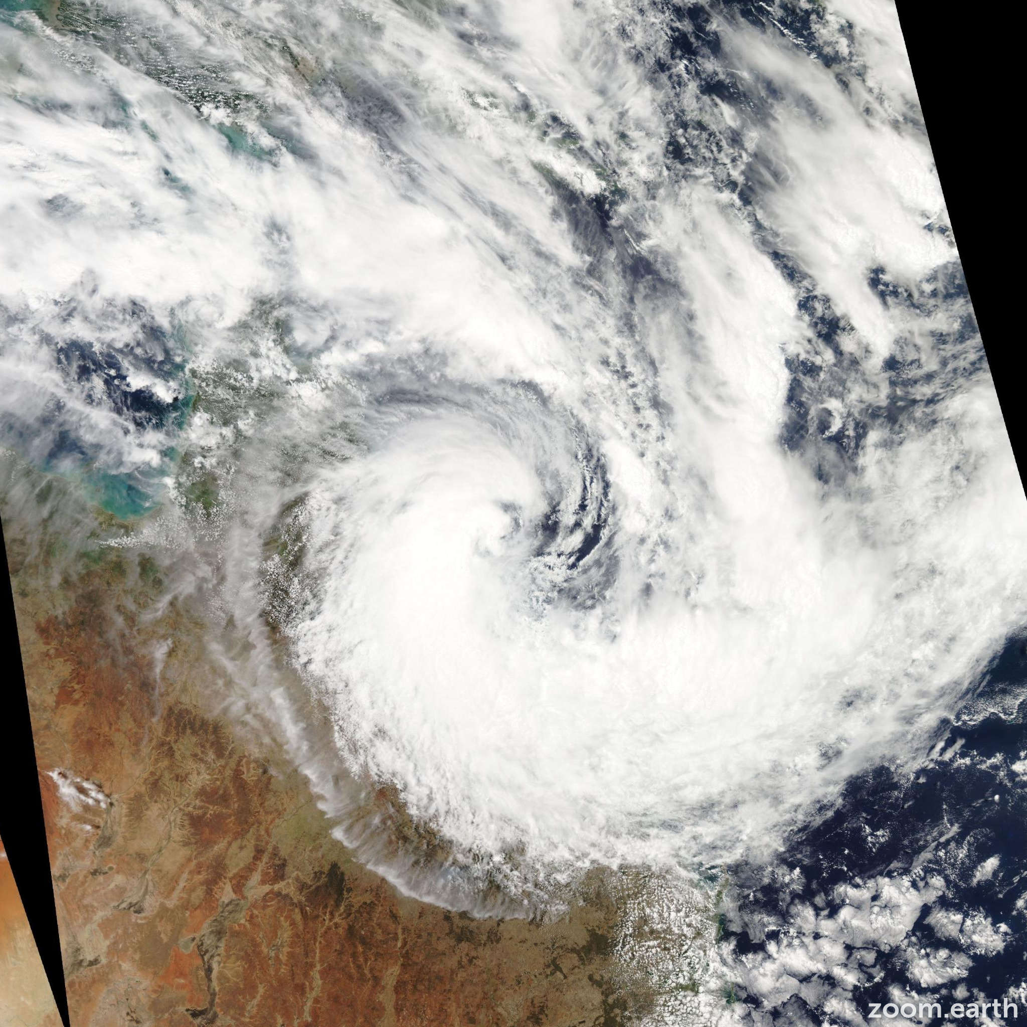 Satellite image of Cyclone Dylan 2014