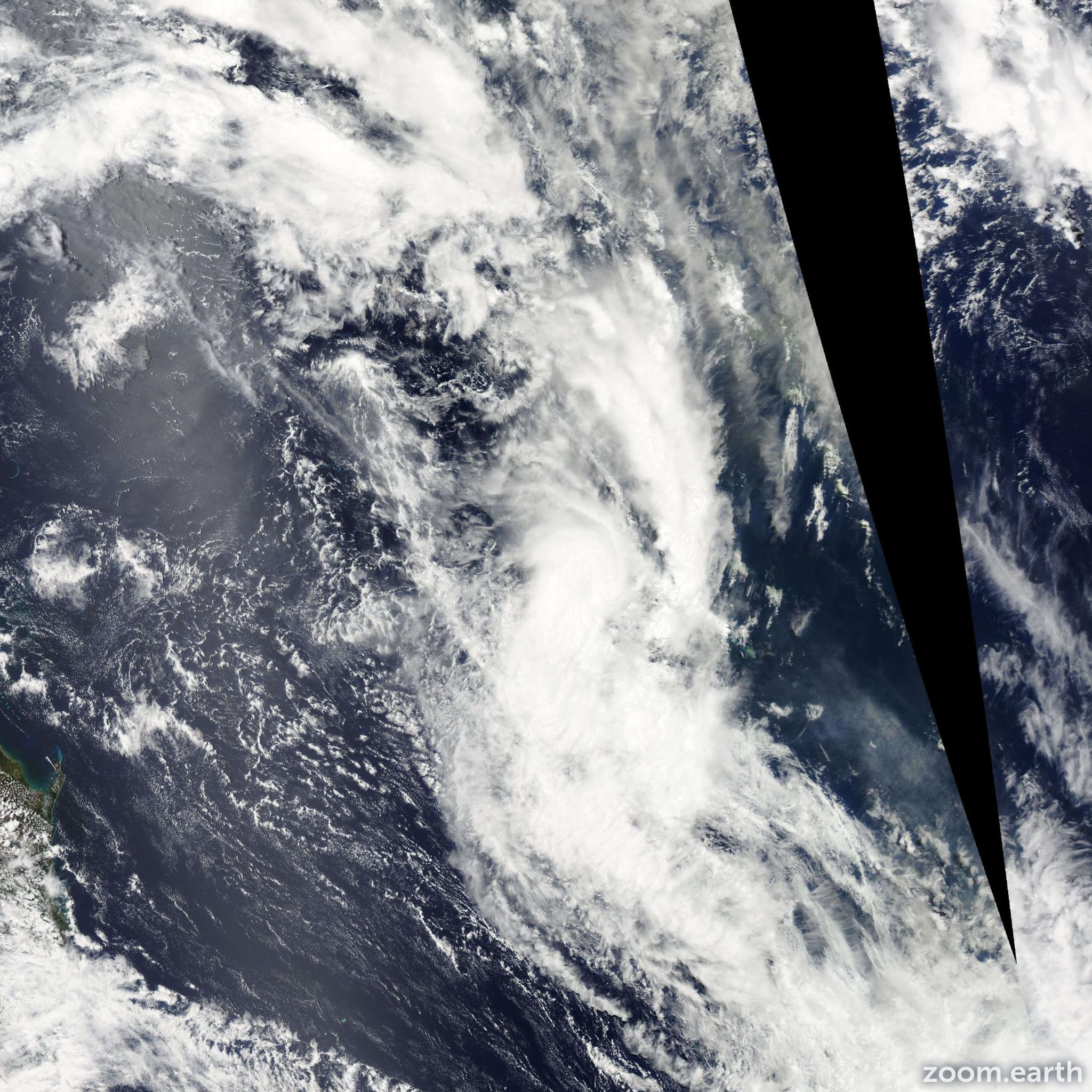 Satellite image of Cyclone Edna 2014