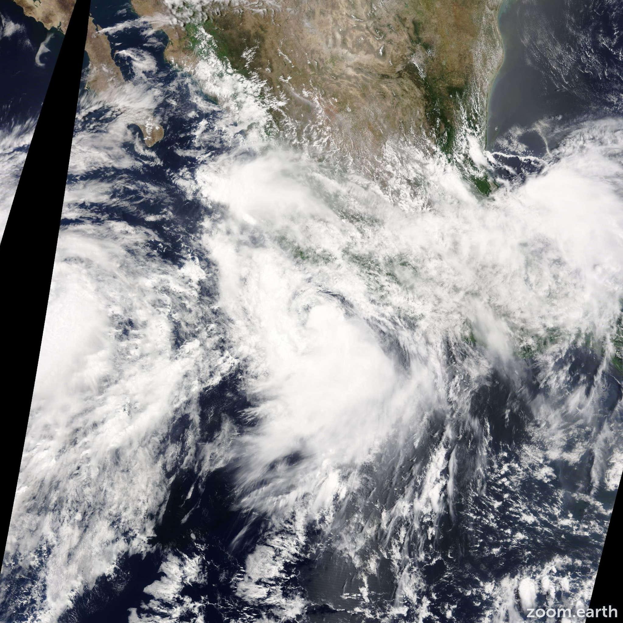 Satellite image of Storm Elida 2014