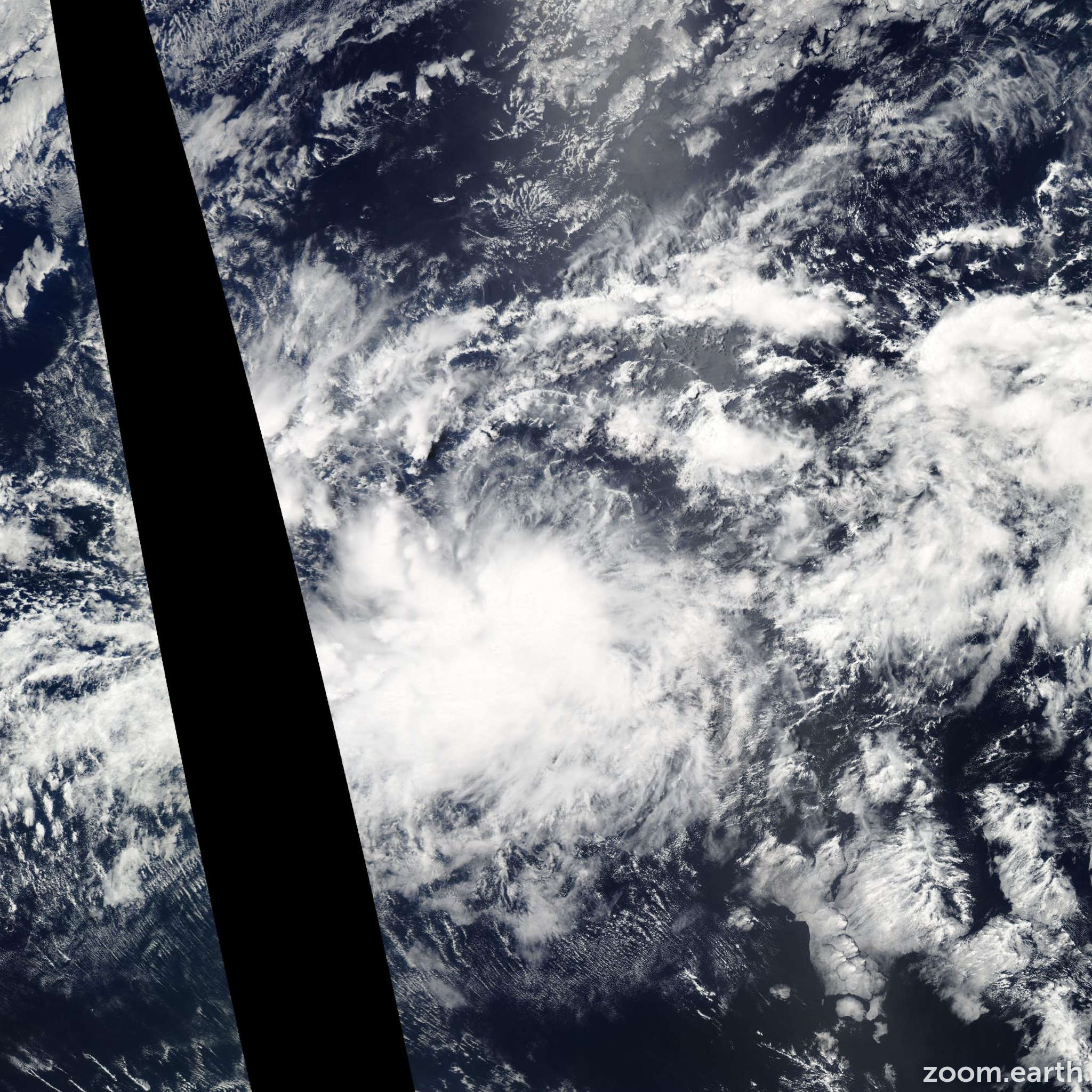 Satellite image of Storm Fausto 2014
