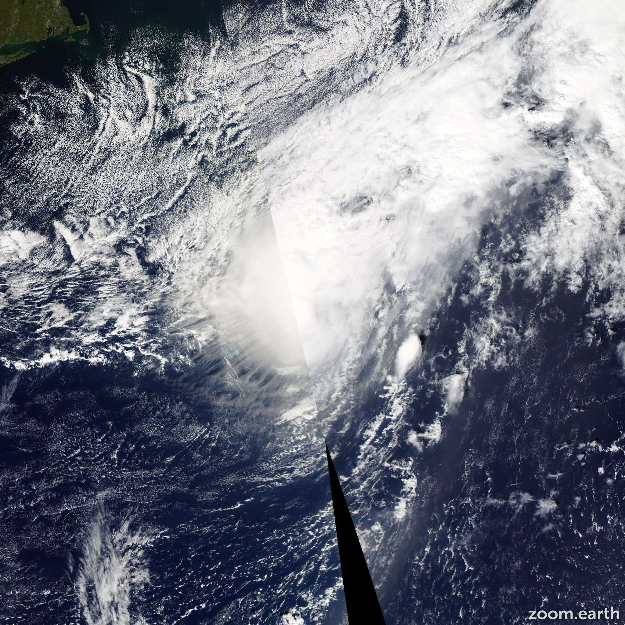 Satellite image of Hurricane Fay 2014