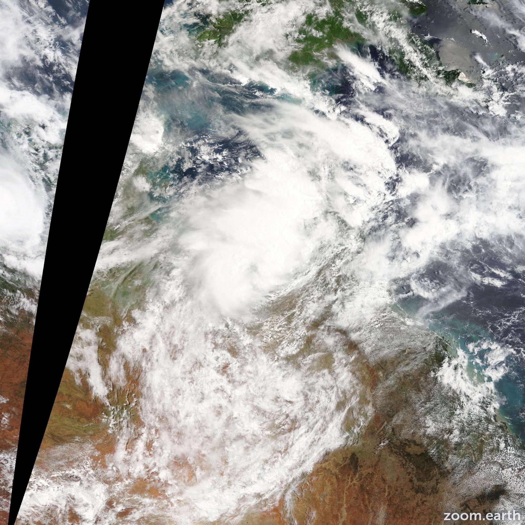 Satellite image of Cyclone Fletcher 2014
