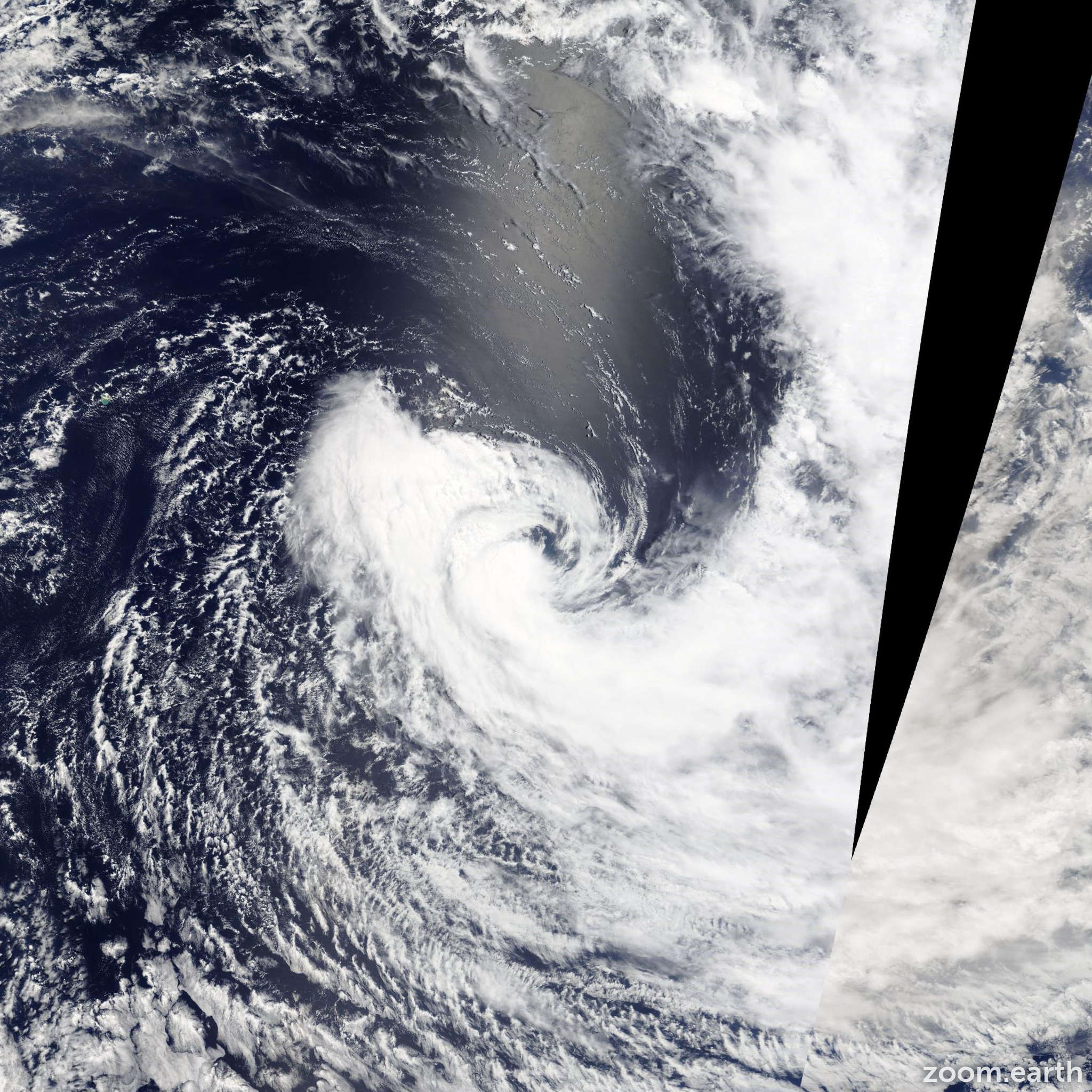 Satellite image of Storm Fobane 2014