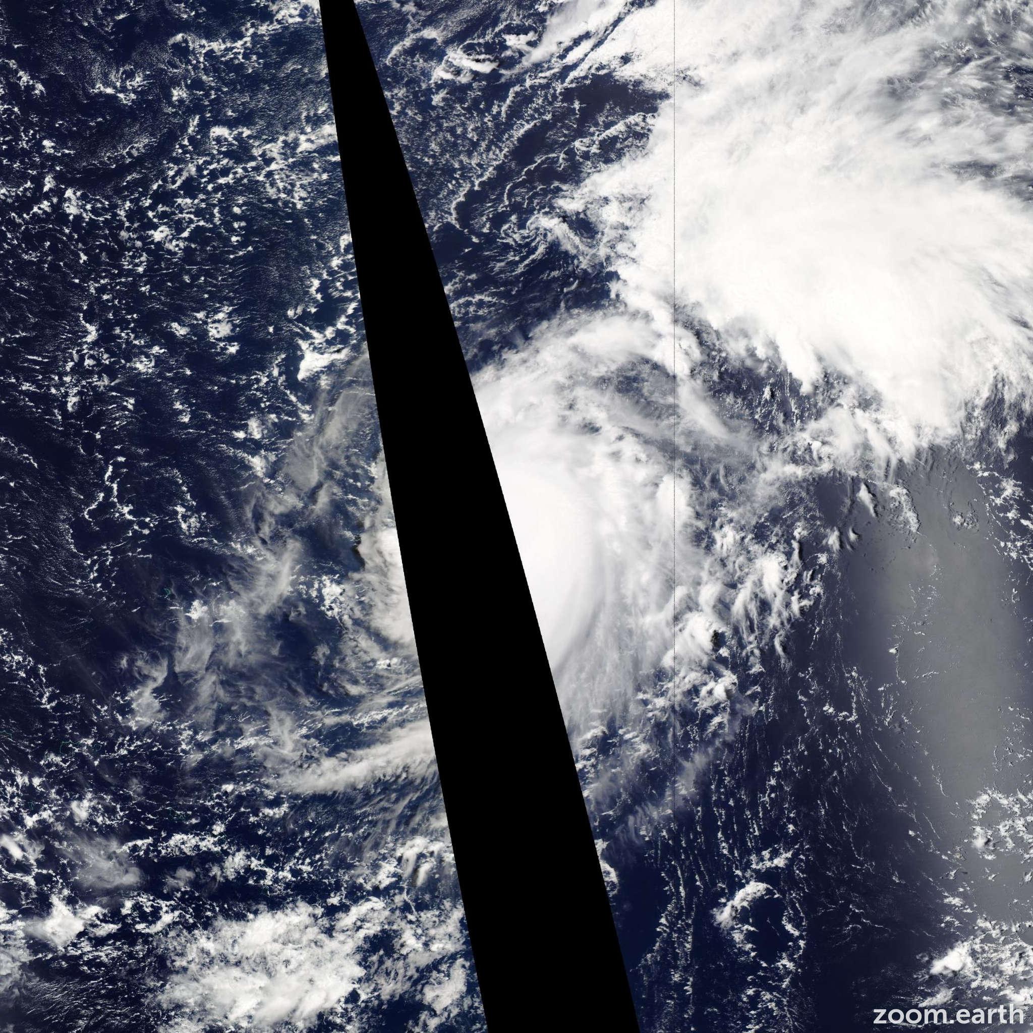 Satellite image of Typhoon Genevieve 2014