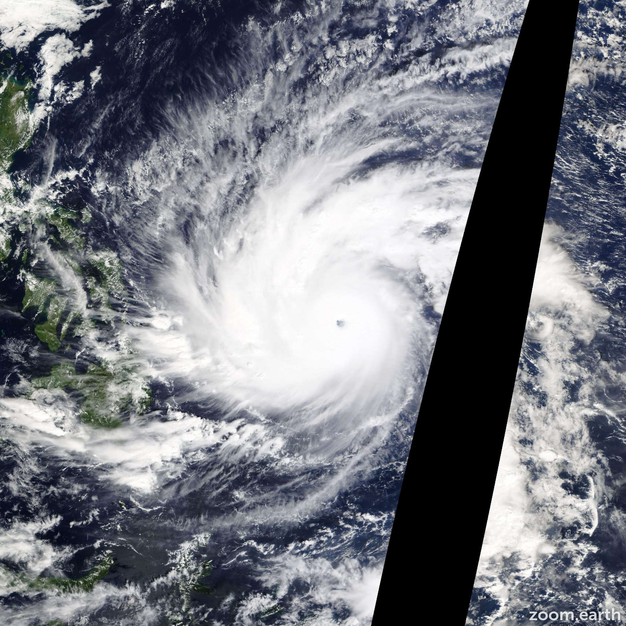 Satellite image of Typhoon Hagupit 2014