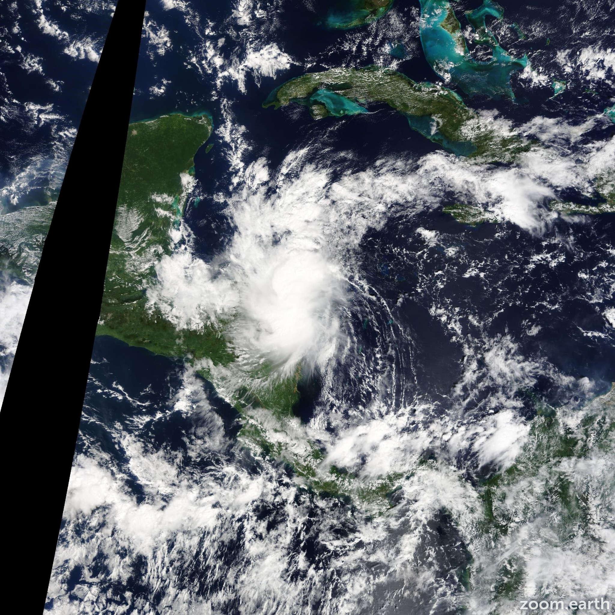 Satellite image of Storm Hanna 2014