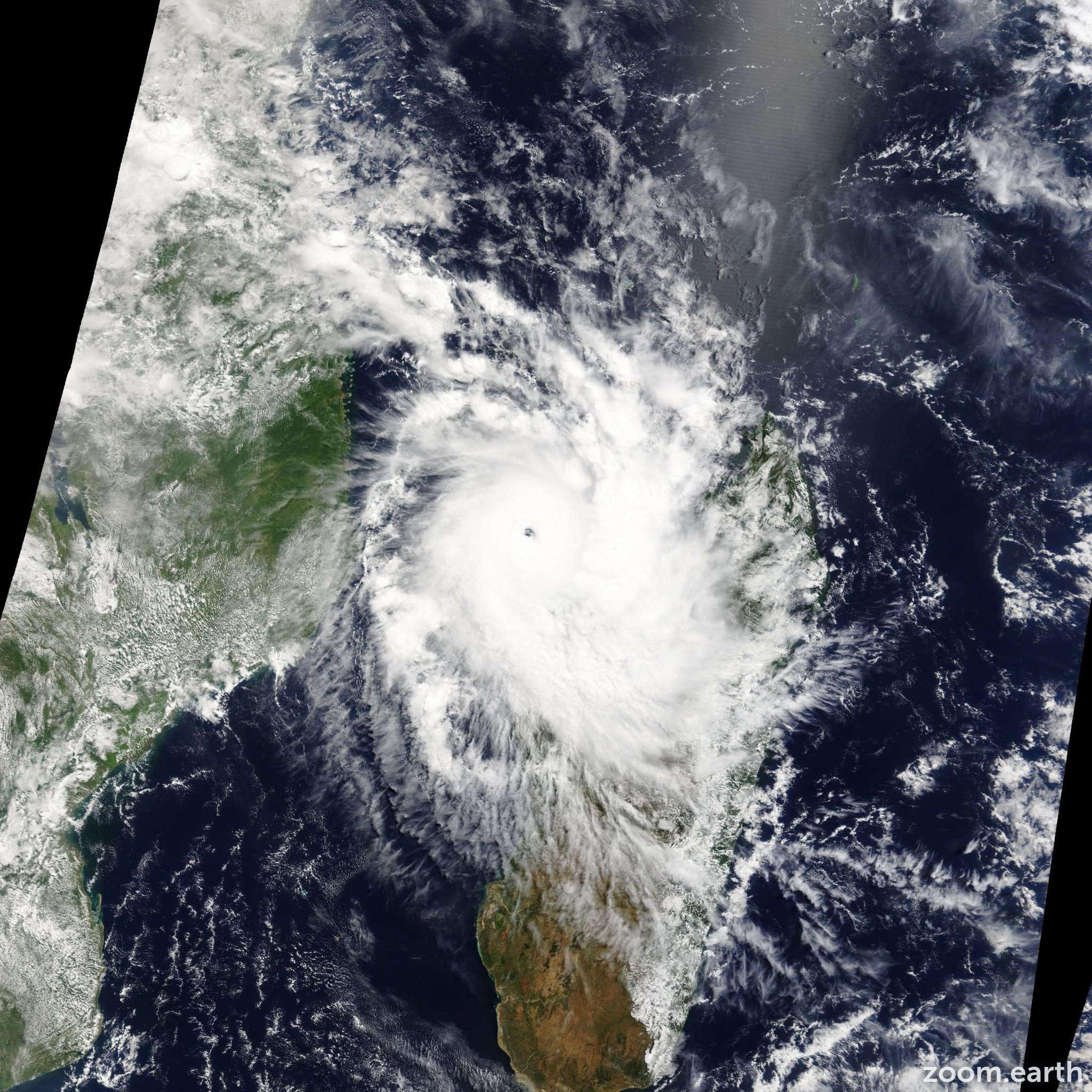 Satellite image of Cyclone Hellen 2014