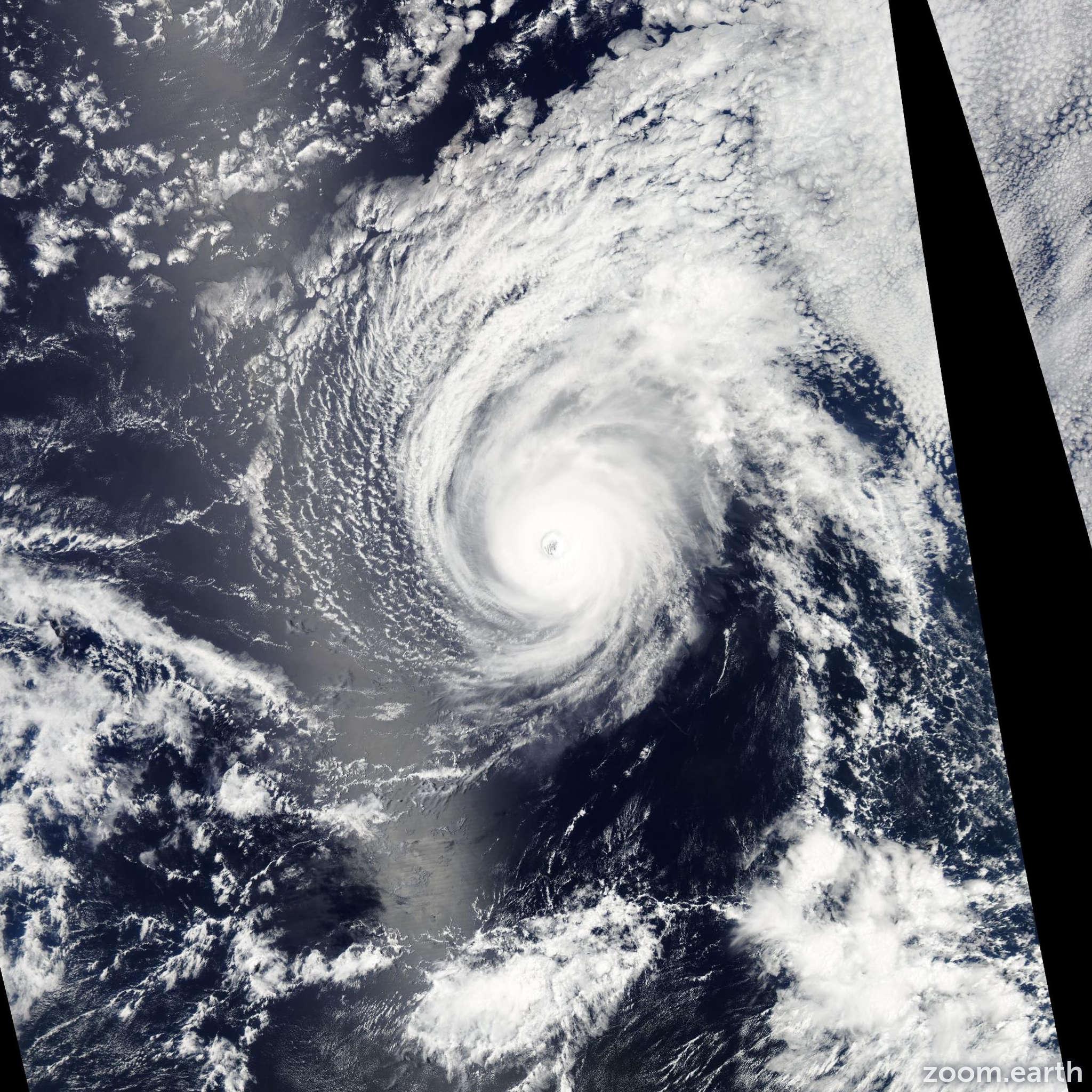 Satellite image of Hurricane Iselle 2014