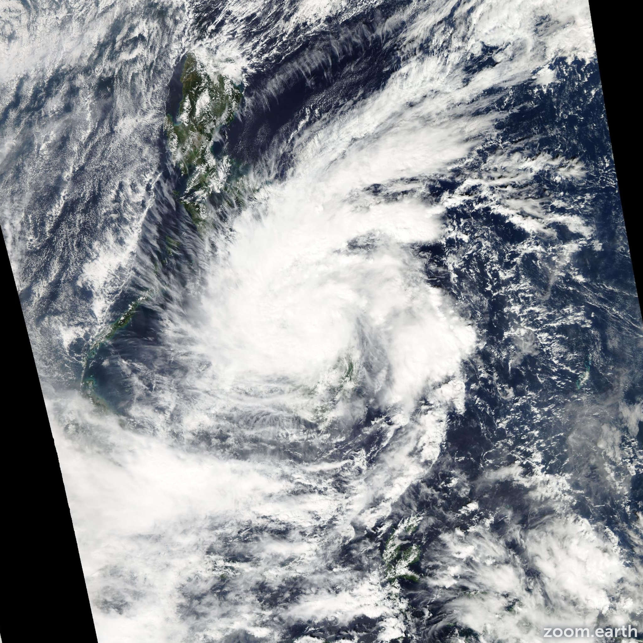 Satellite image of Storm Jangmi 2014