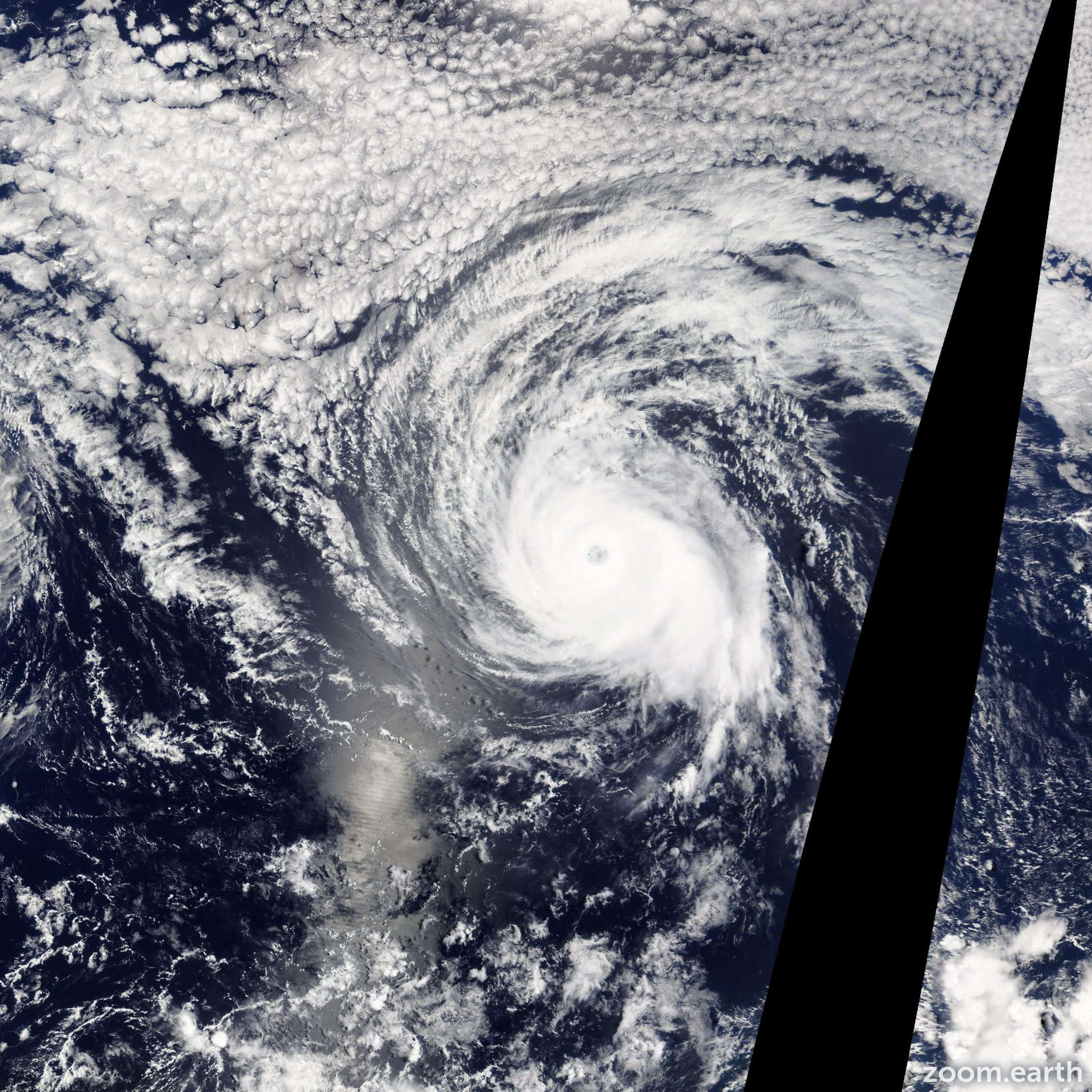 Satellite image of Hurricane Julio 2014