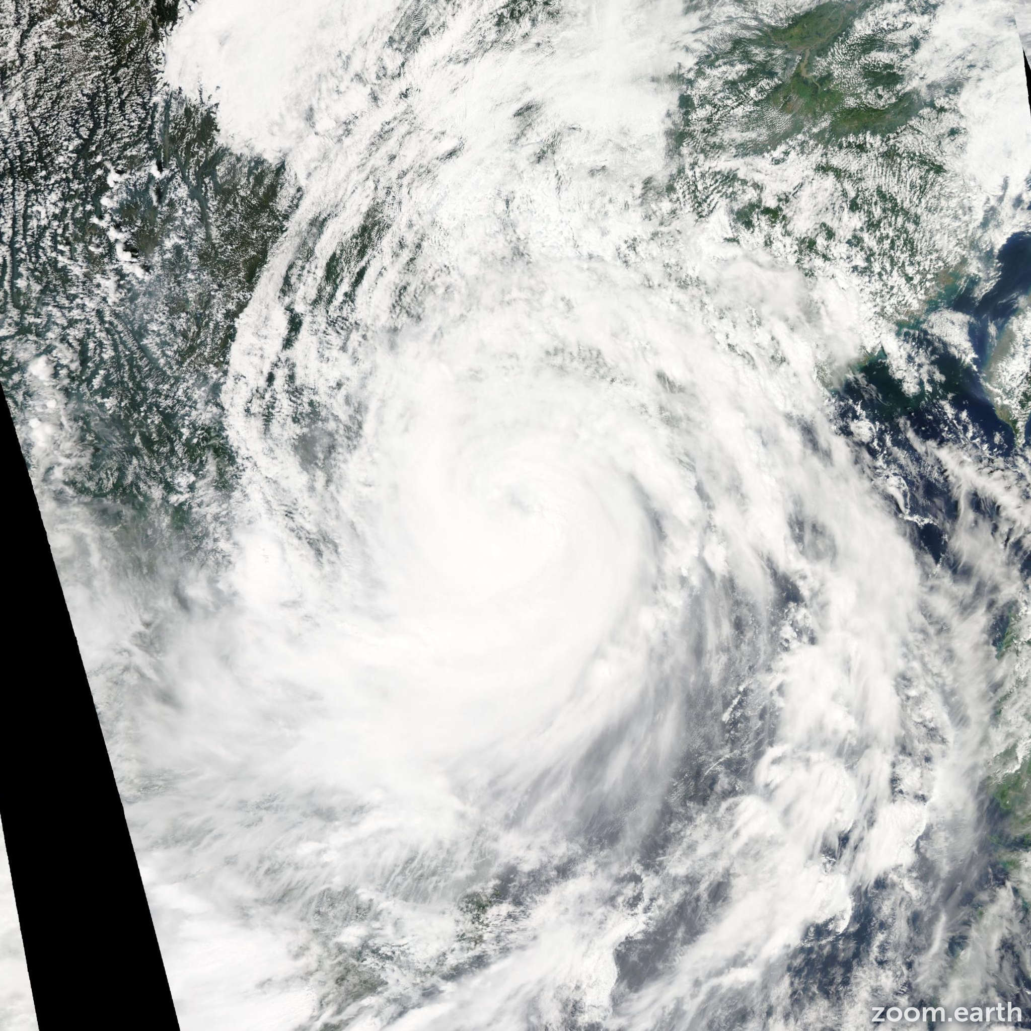 Satellite image of Typhoon Kalmaegi 2014