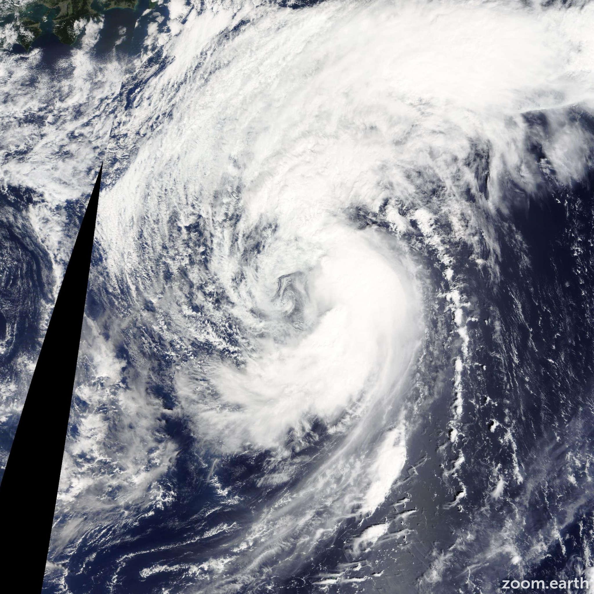 Satellite image of Storm Kammuri 2014