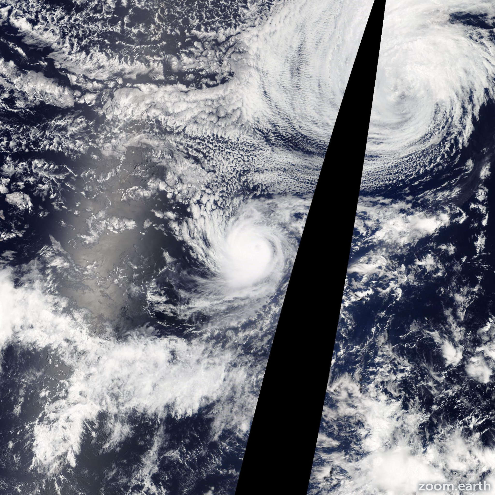 Satellite image of Hurricane Karina 2014