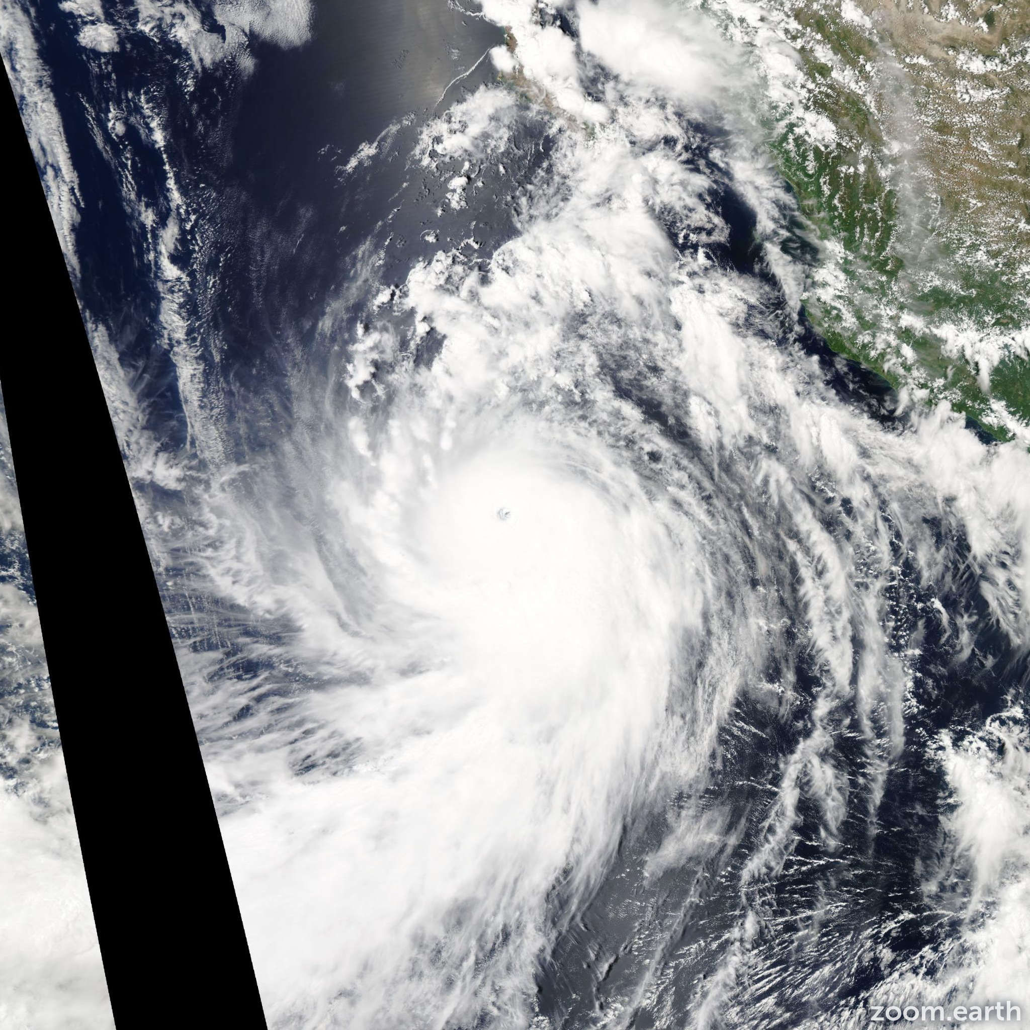 Satellite image of Hurricane Marie 2014