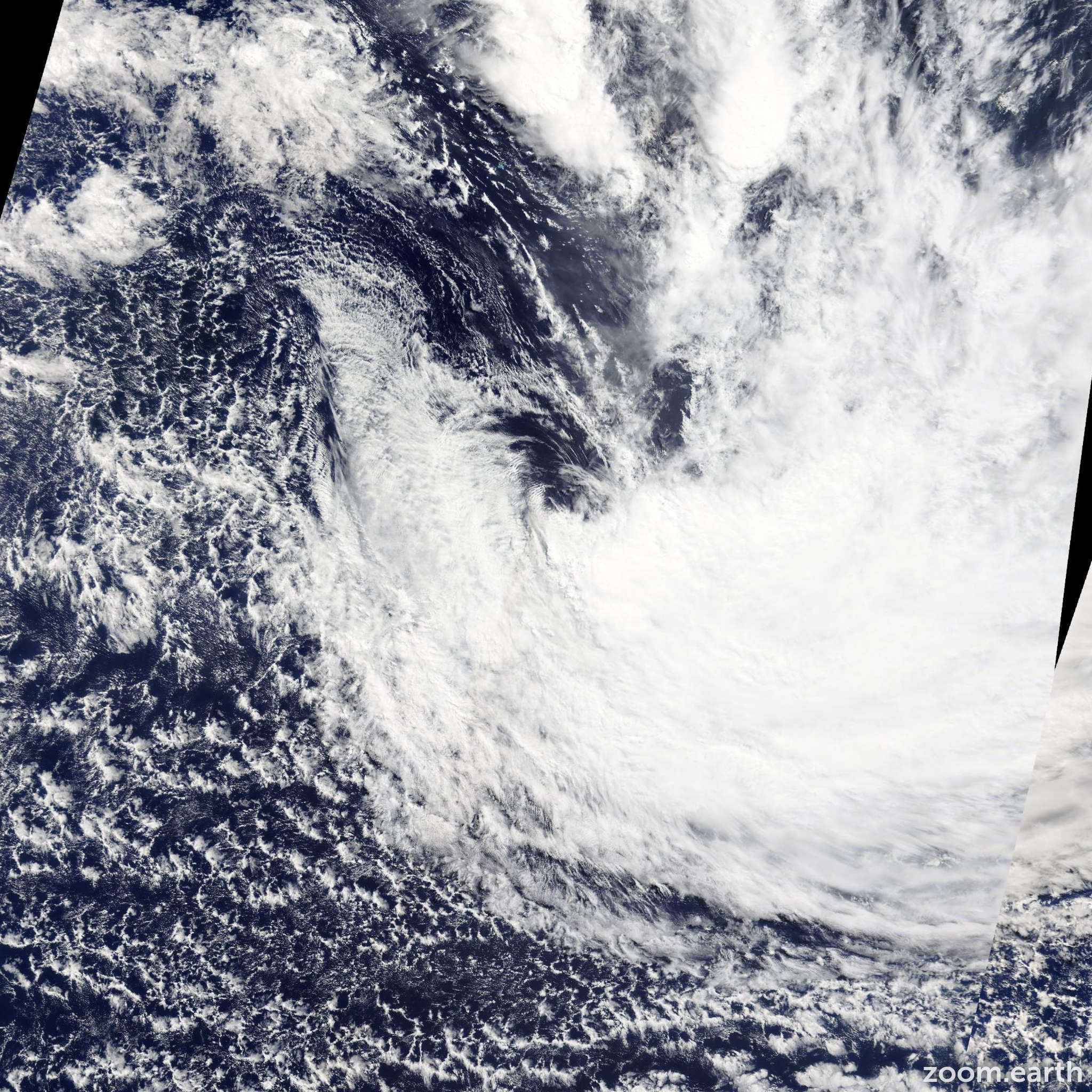Satellite image of Cyclone Mike 2014