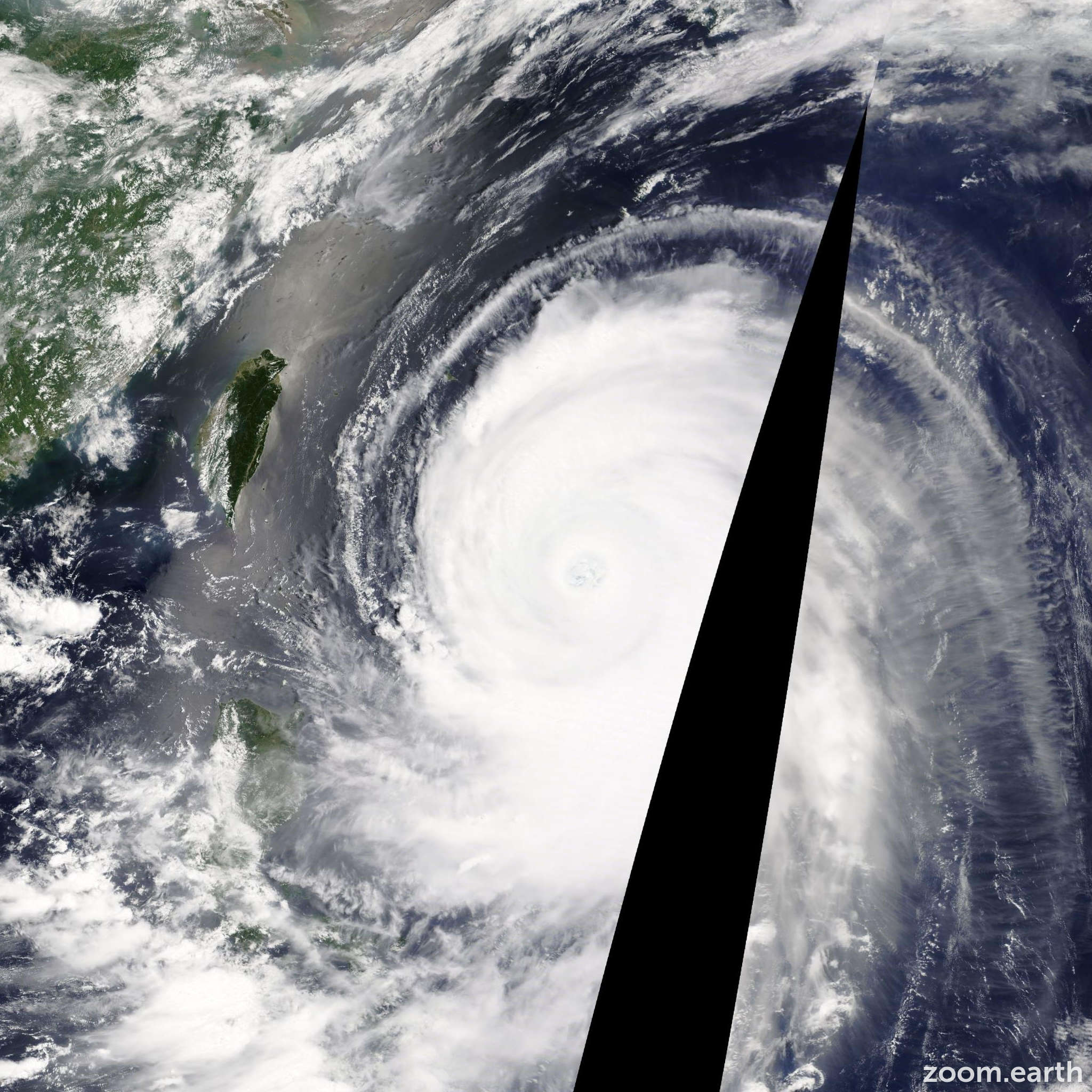 Satellite image of Typhoon Neoguri 2014
