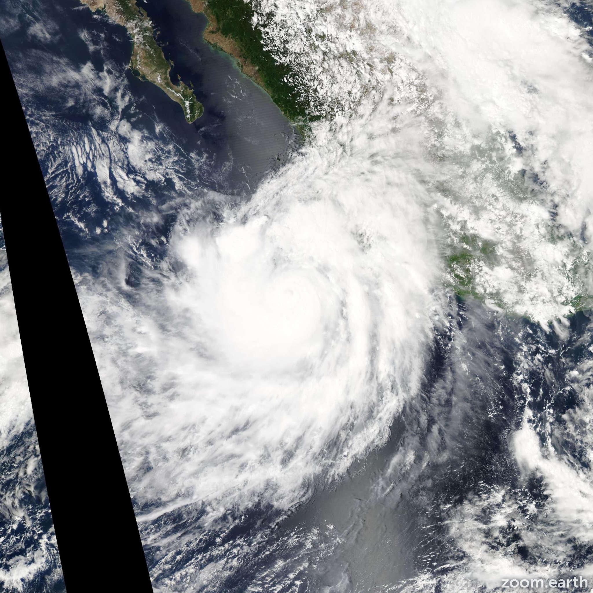 Satellite image of Hurricane Odile 2014