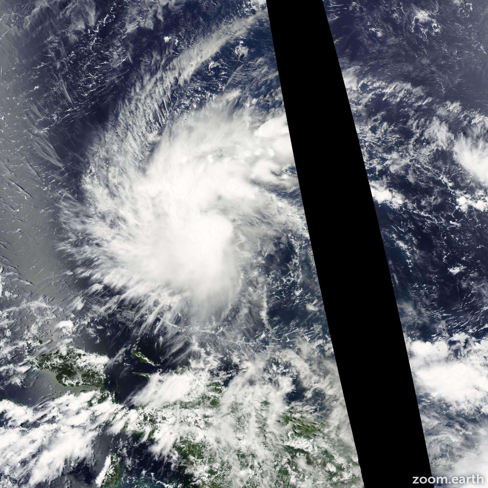 Satellite image of Storm Peipah 2014