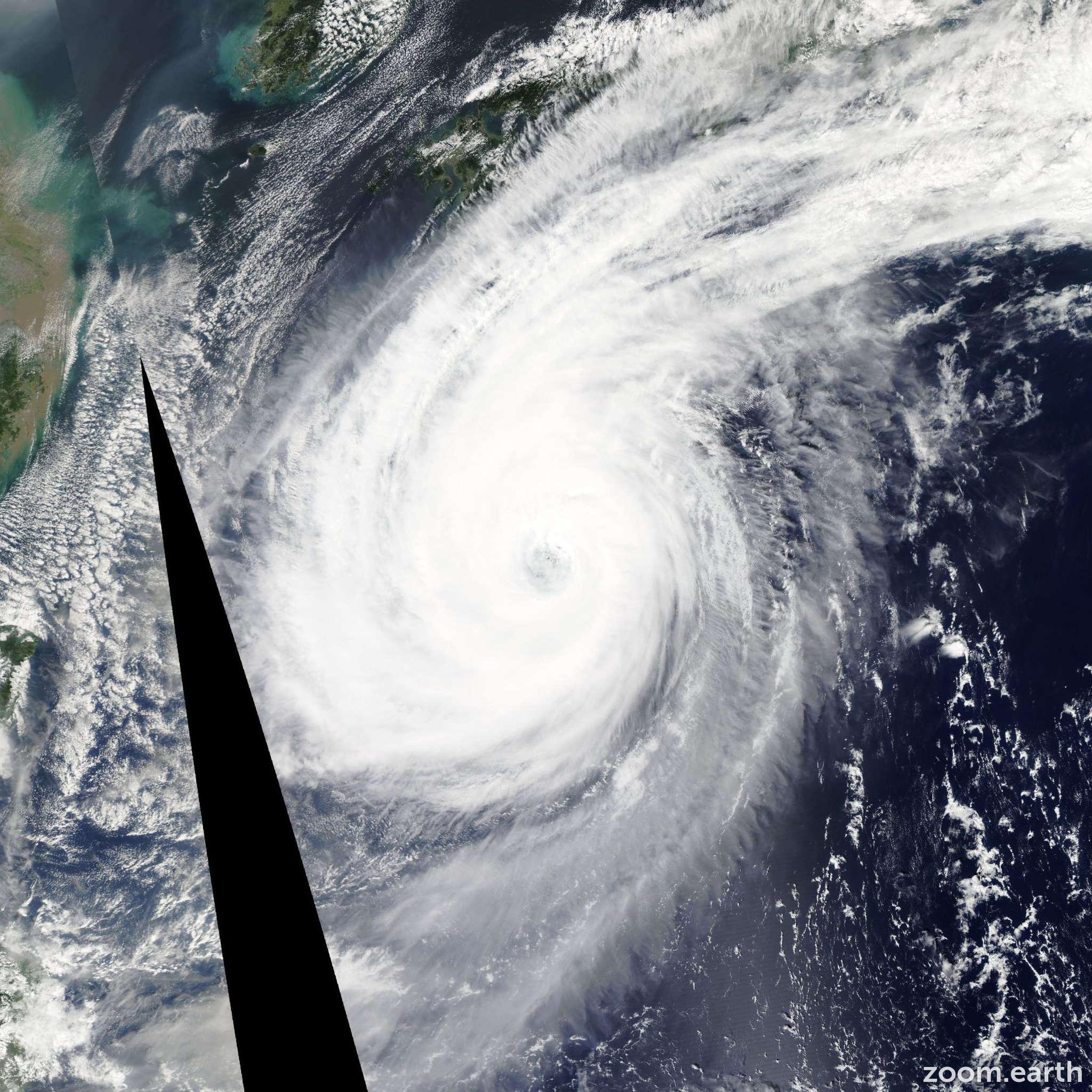 Satellite image of Typhoon Phanfone 2014