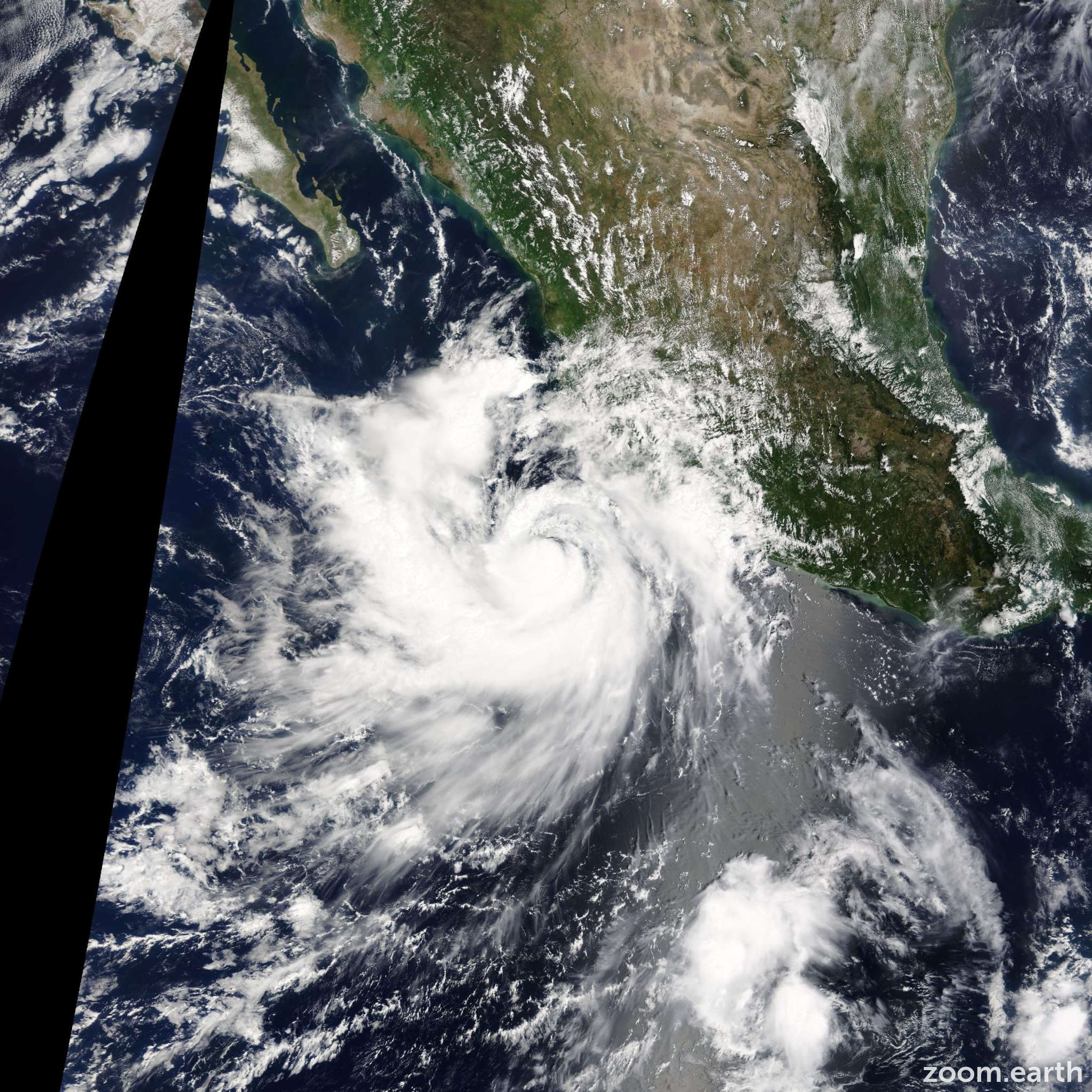 Satellite image of Hurricane Polo 2014