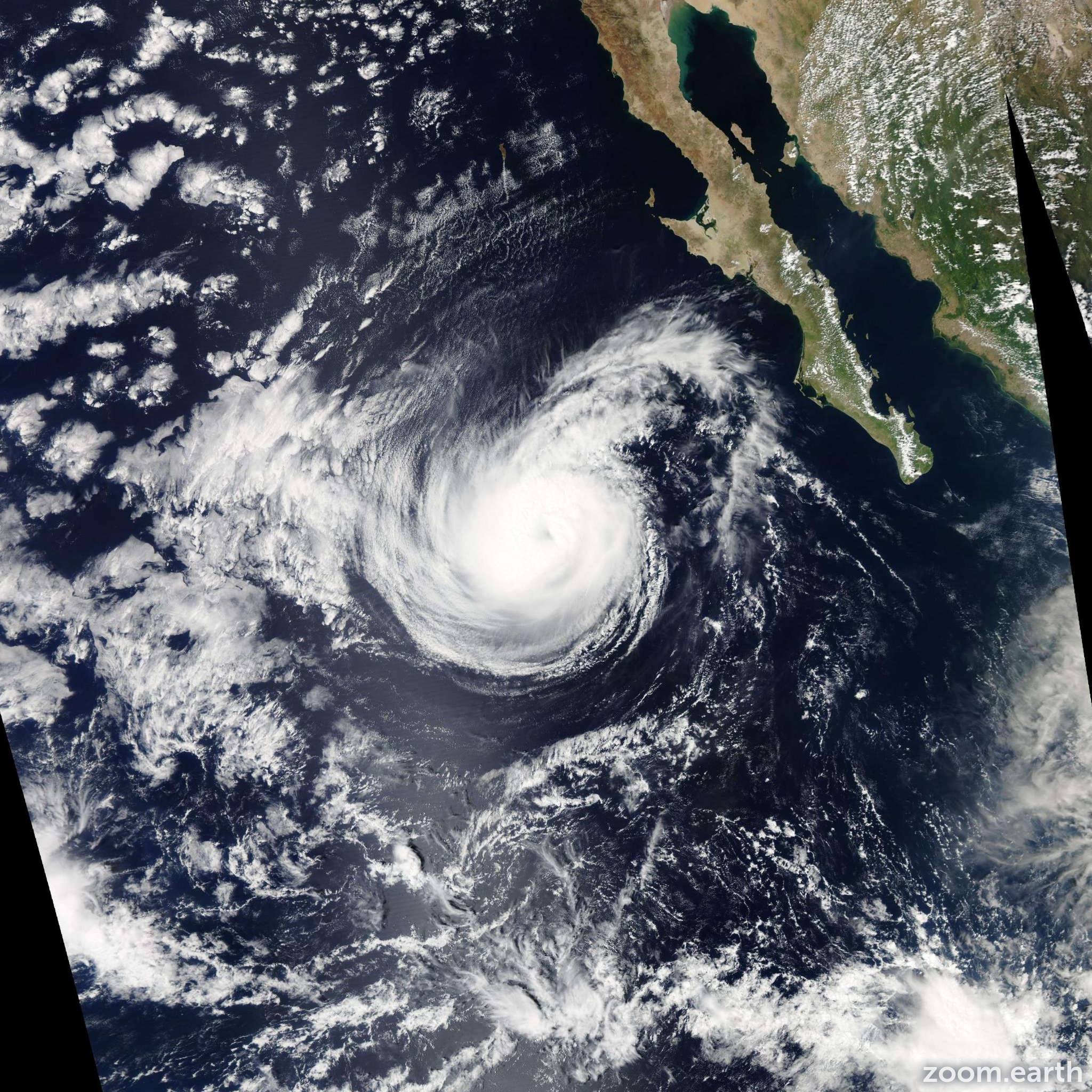 Satellite image of Hurricane Rachel 2014