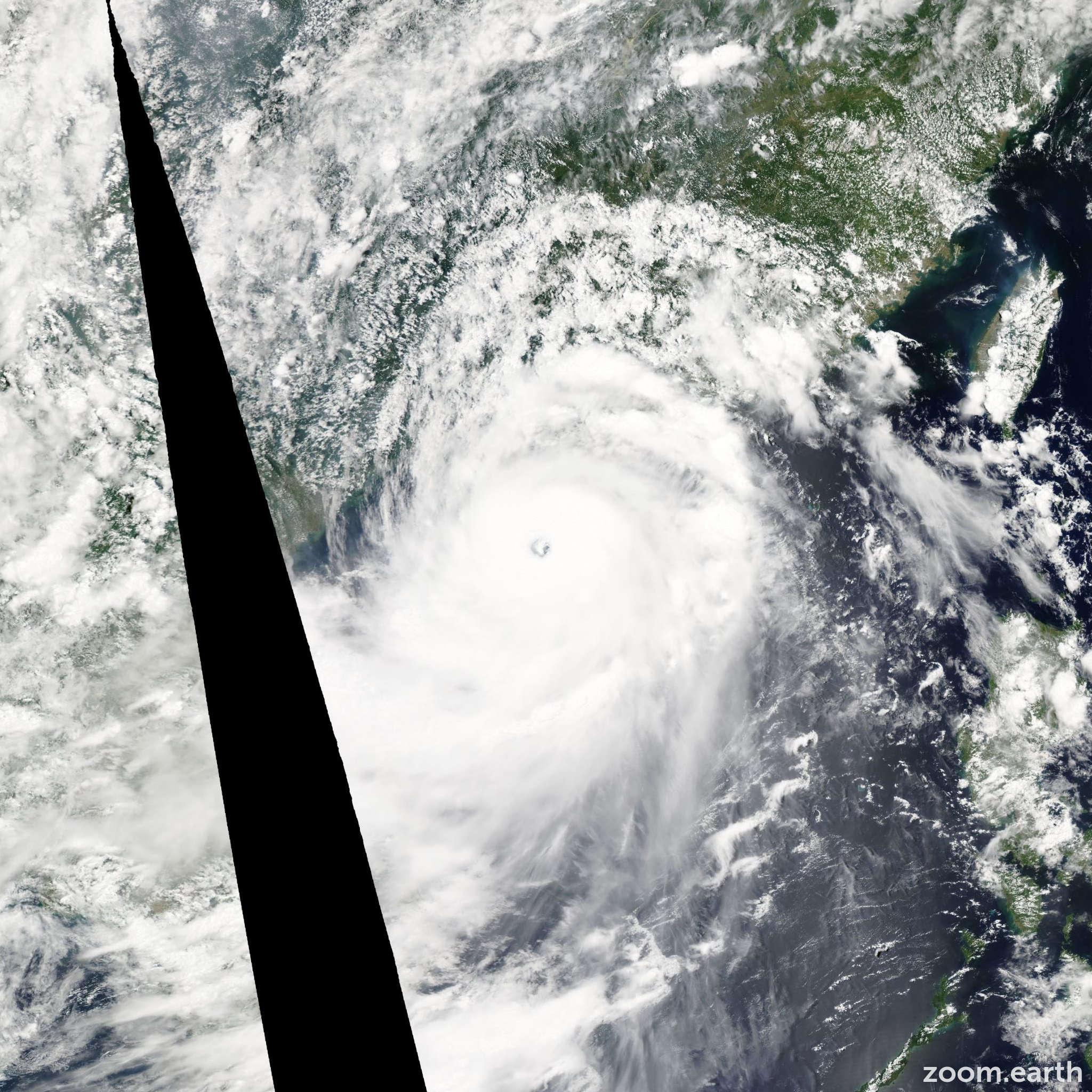 Satellite image of Typhoon Rammasun 2014