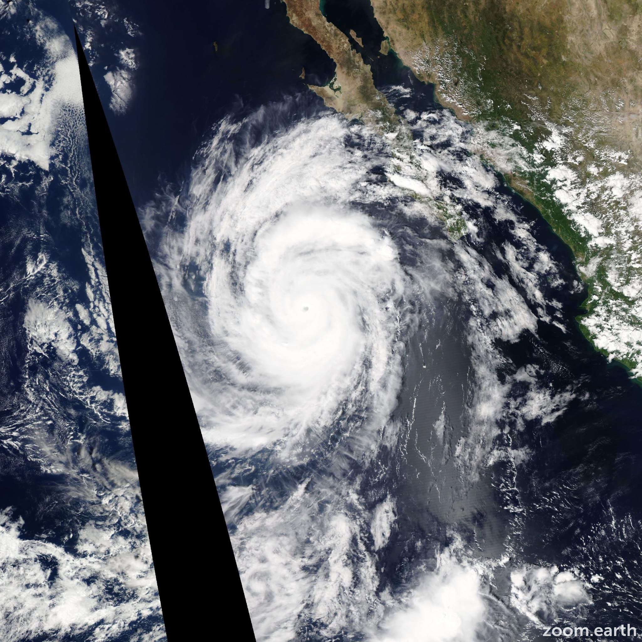 Satellite image of Hurricane Simon 2014