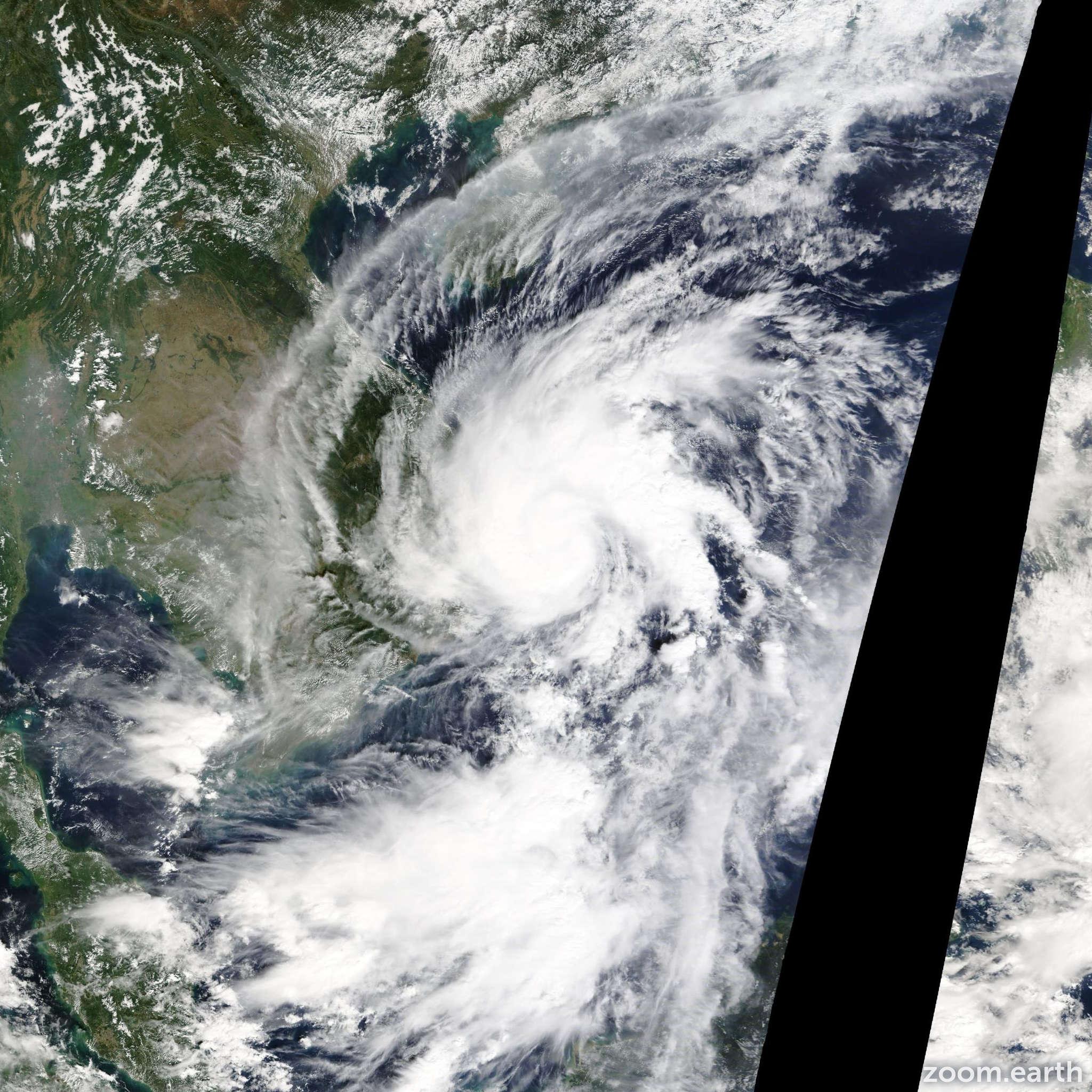Satellite image of Storm Sinlaku 2014