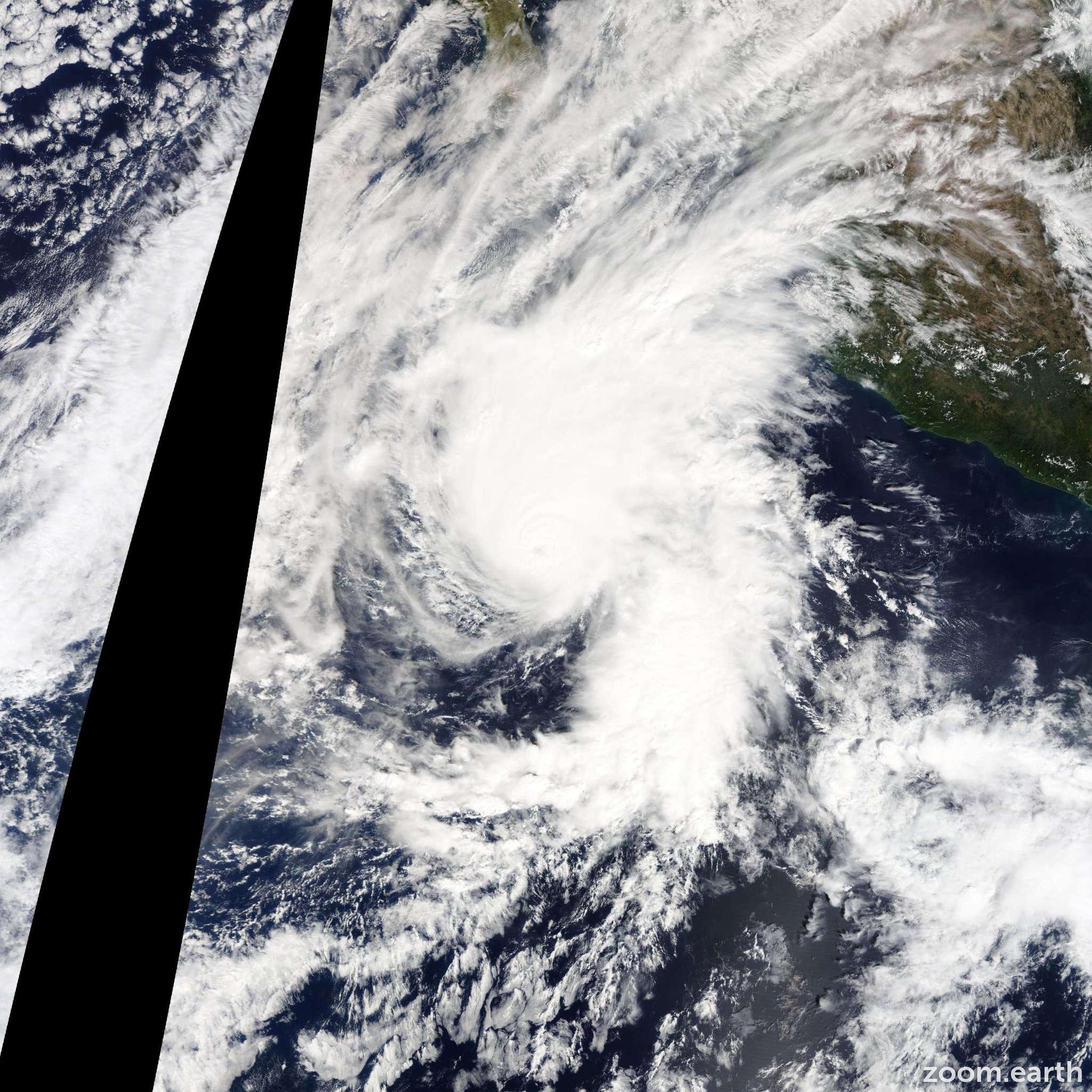 Satellite image of Hurricane Vance 2014