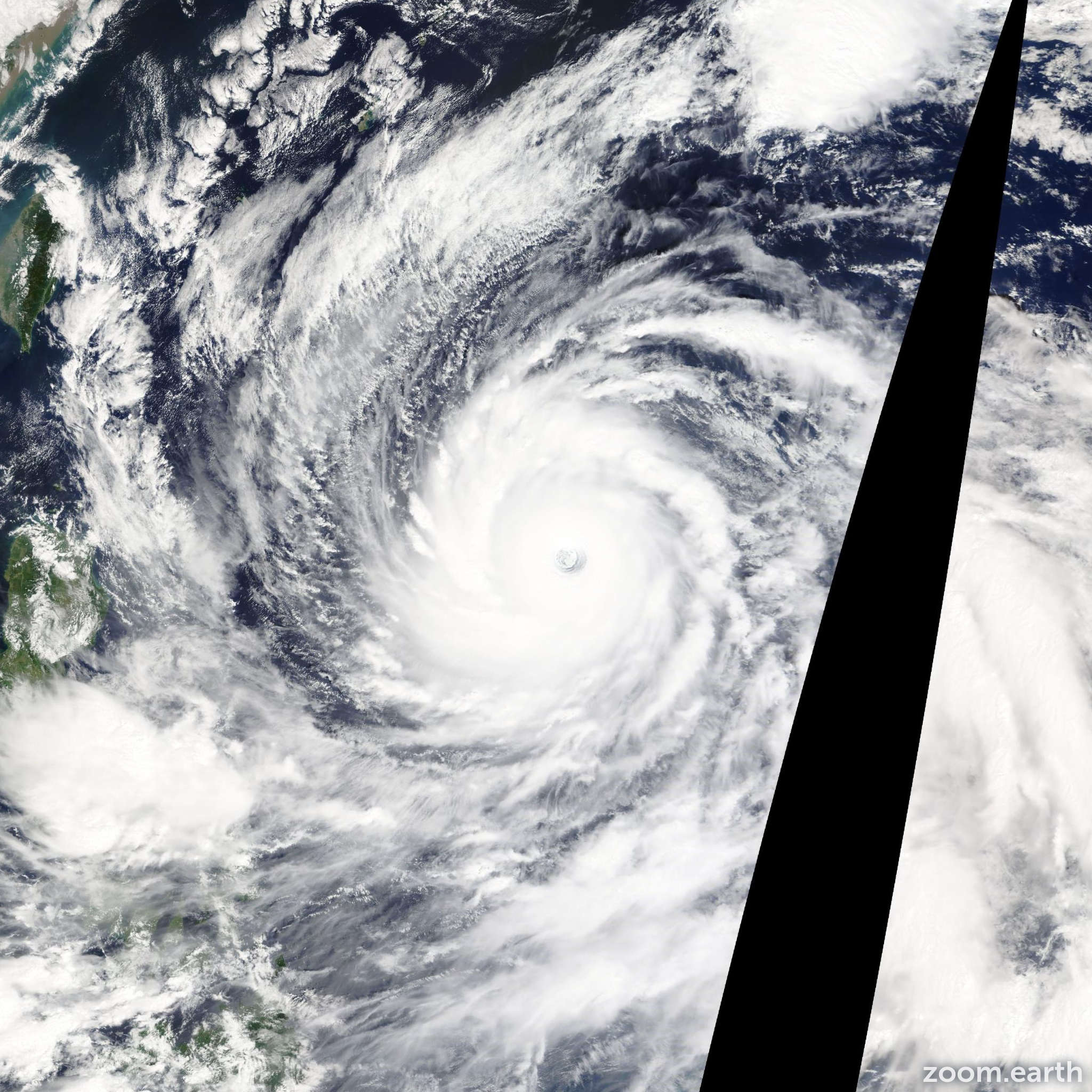 Satellite image of Typhoon Vongfong 2014