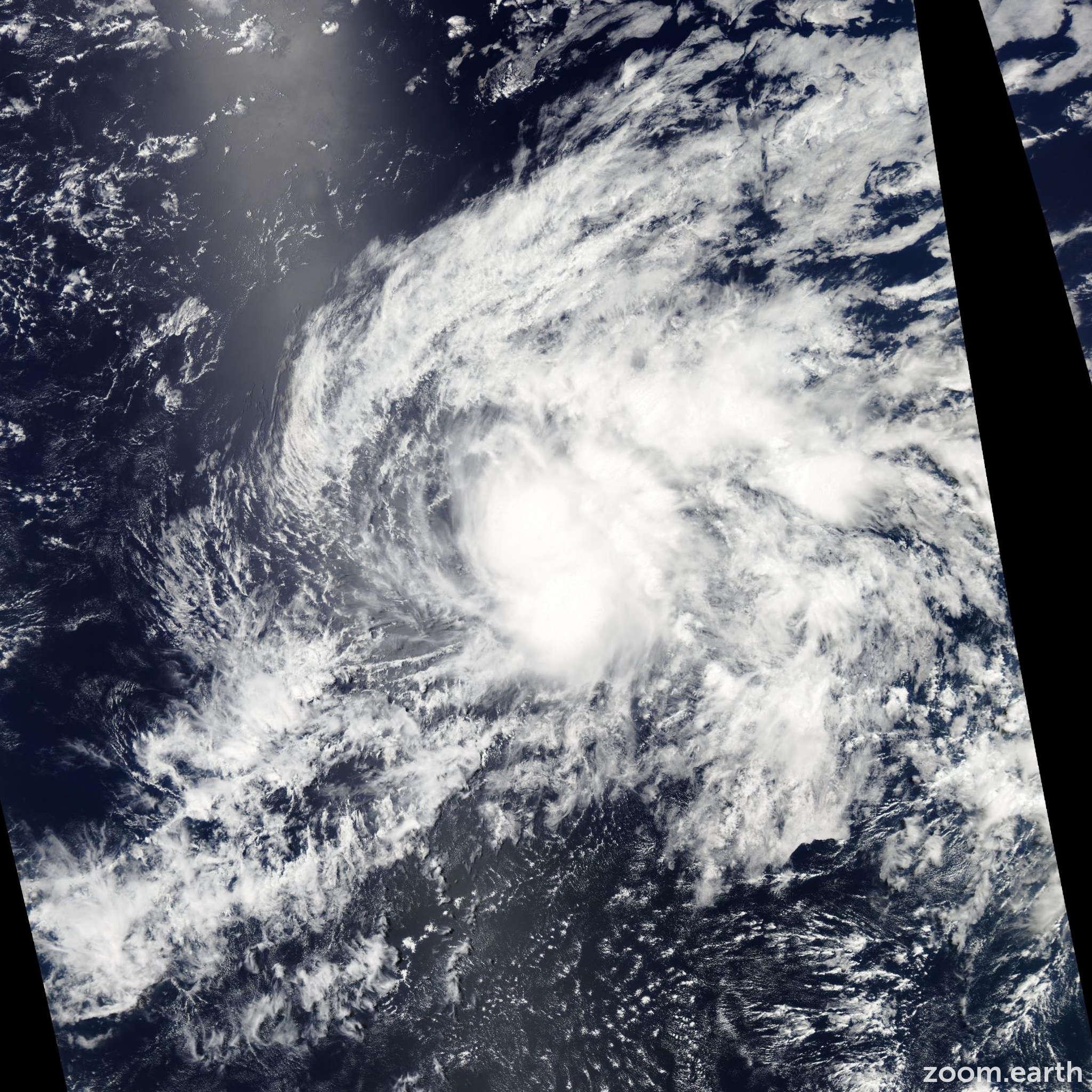 Satellite image of Storm Wali 2014